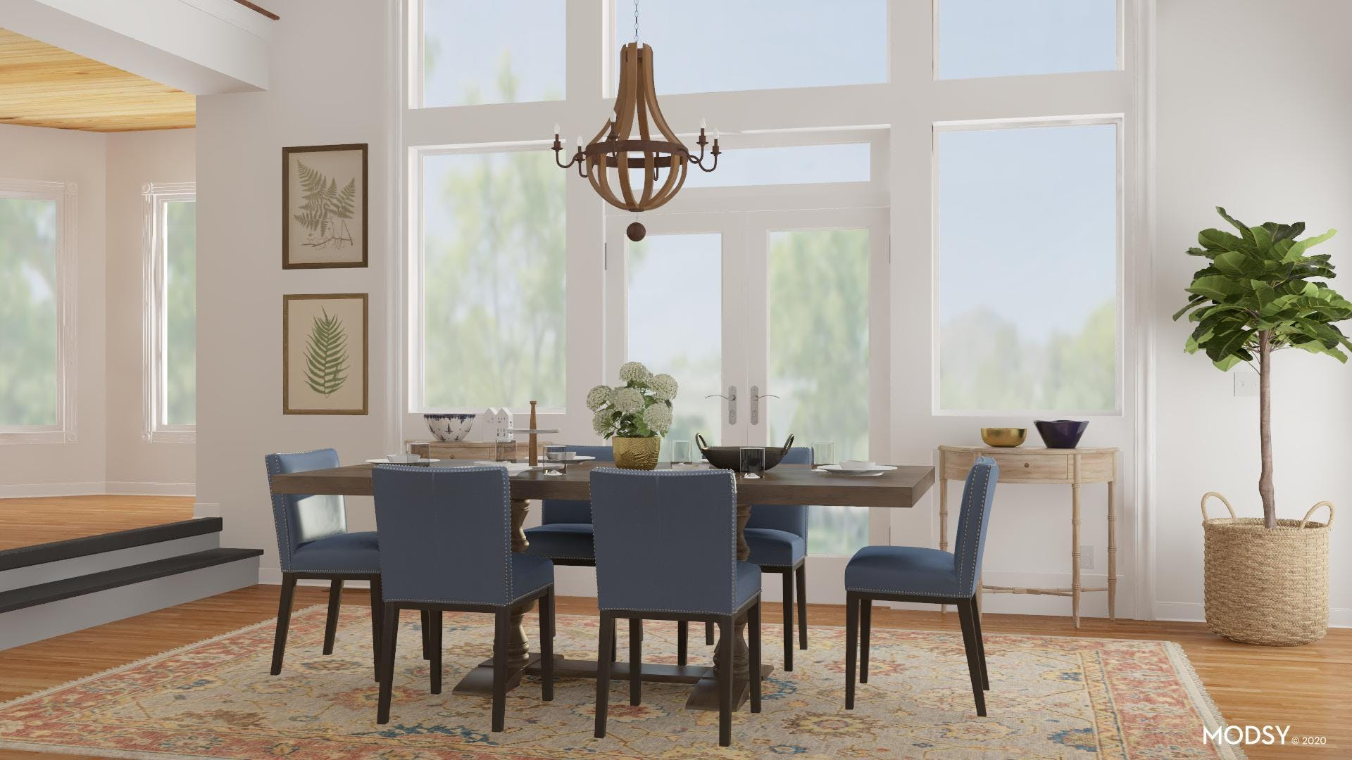 Infusing Nature: Traditional Dining Room
