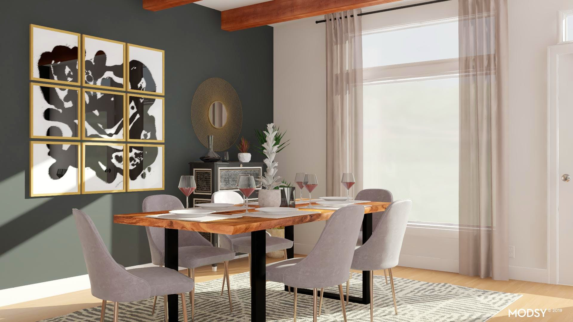 Black And White Dining Room Fit For Entertaining | Modern ...
