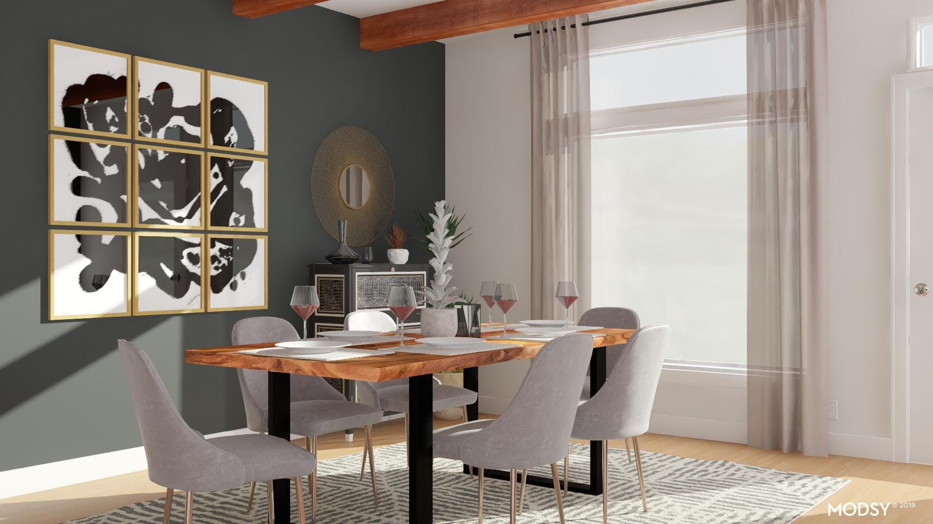 Black And White Dining Room Fit For Entertaining