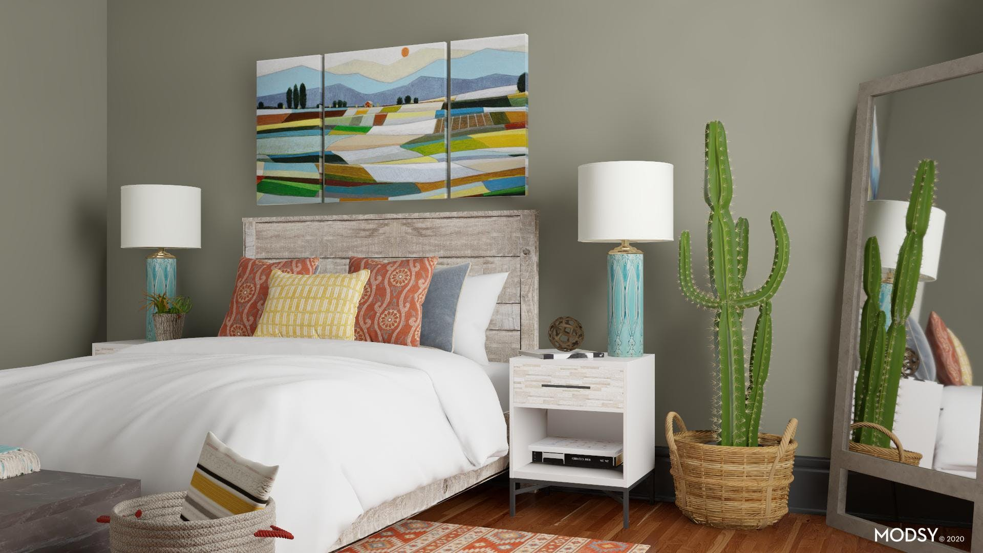 Colorful And Rustic Bedroom
