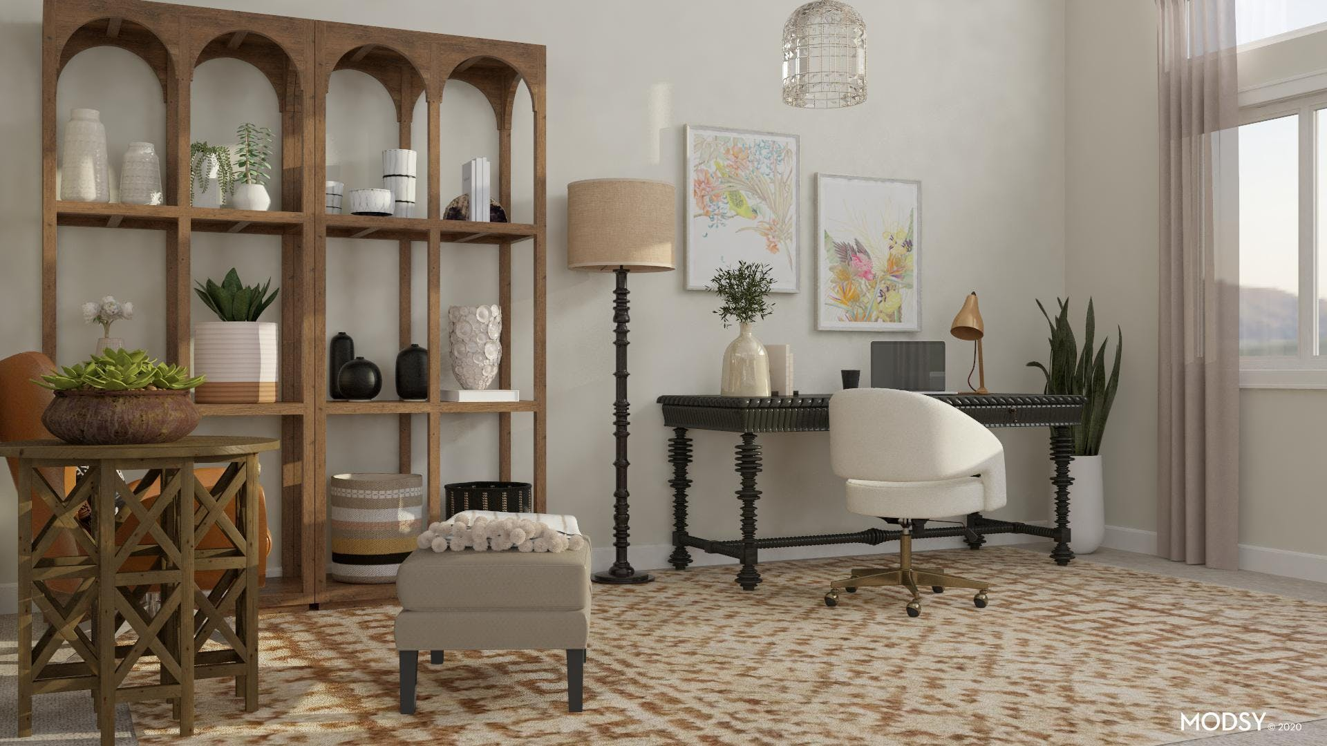 Sophisticated Office In Neutral