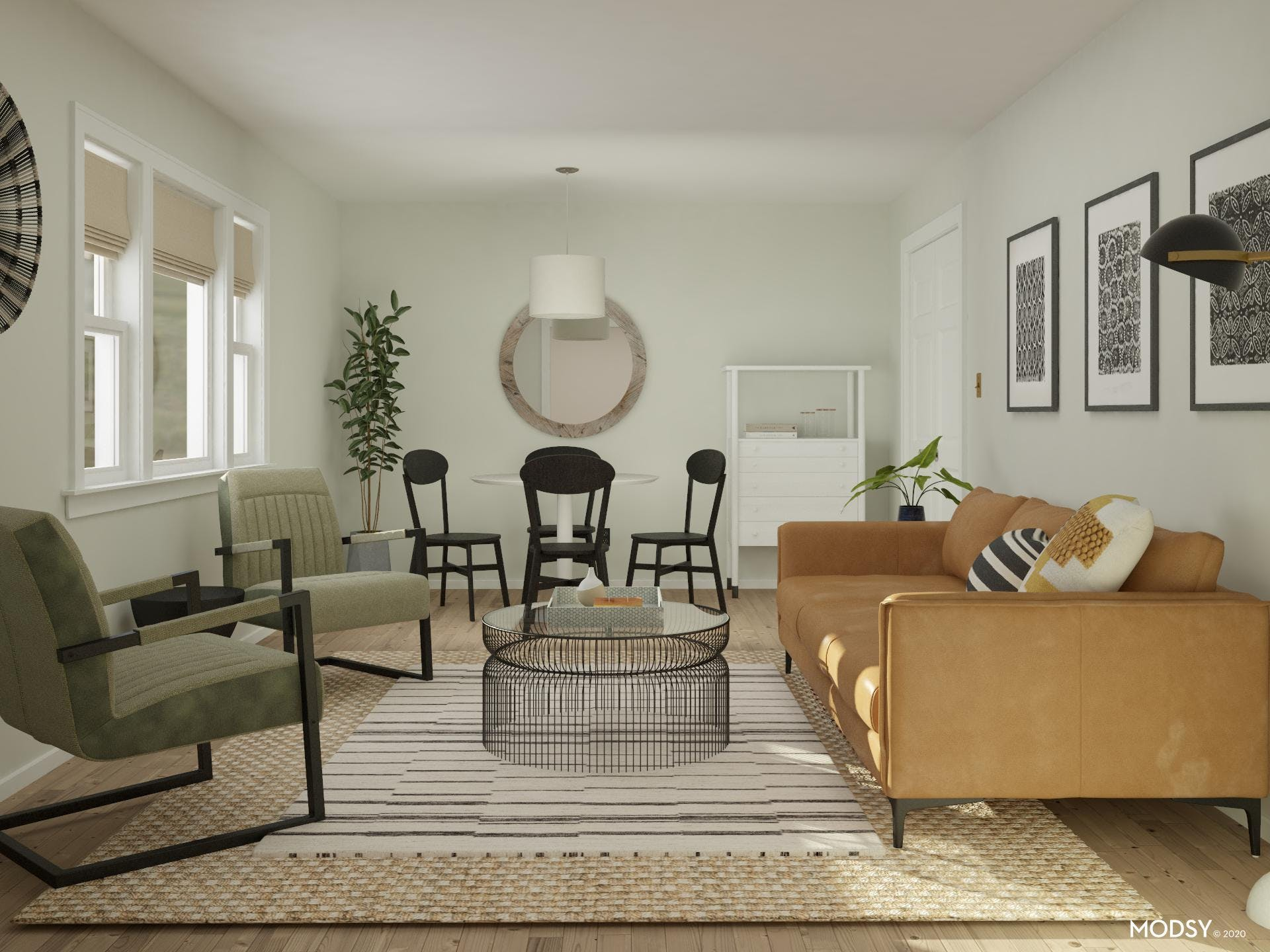 Zoning A Long Living Room