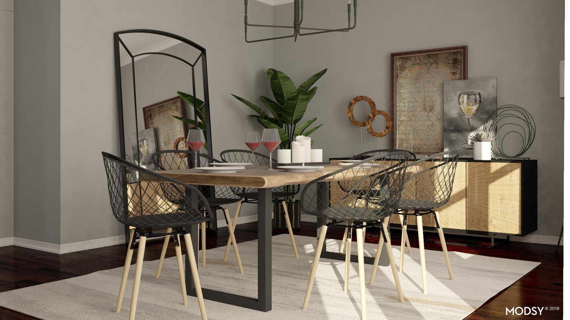 Industrial Glam Dining