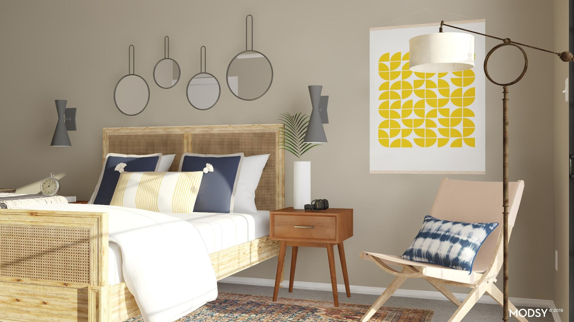 Casual Wovens: Eclectic Bedroom