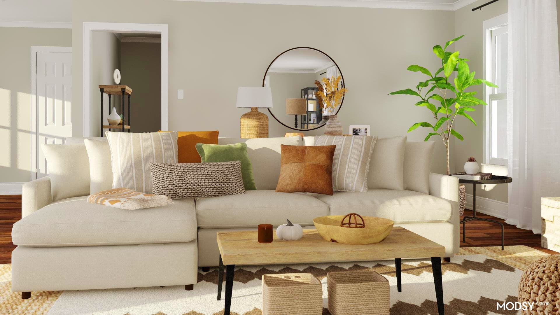 Earthy Rustic Living Room Styling