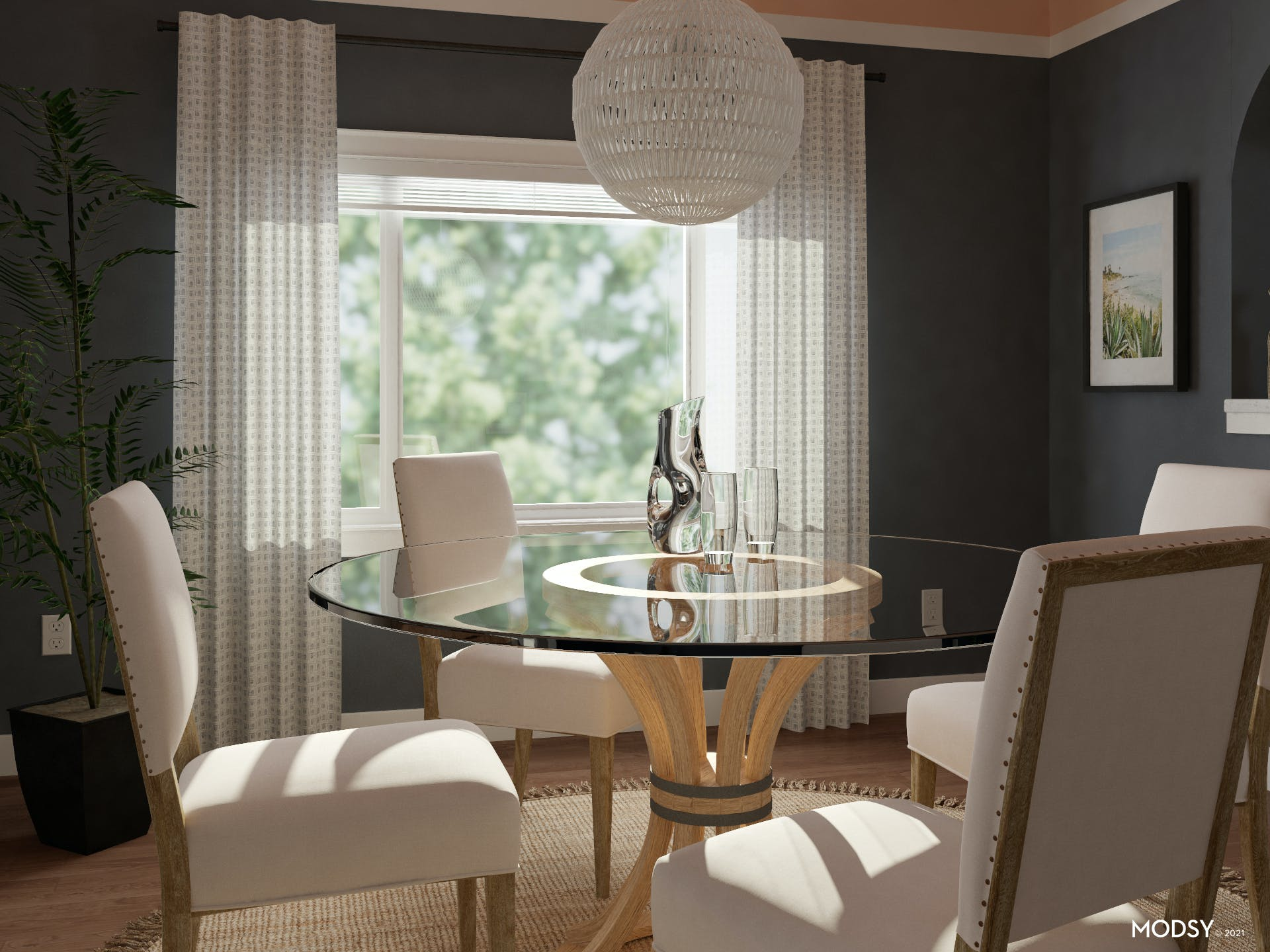 Glass Dining Table In A Small Space