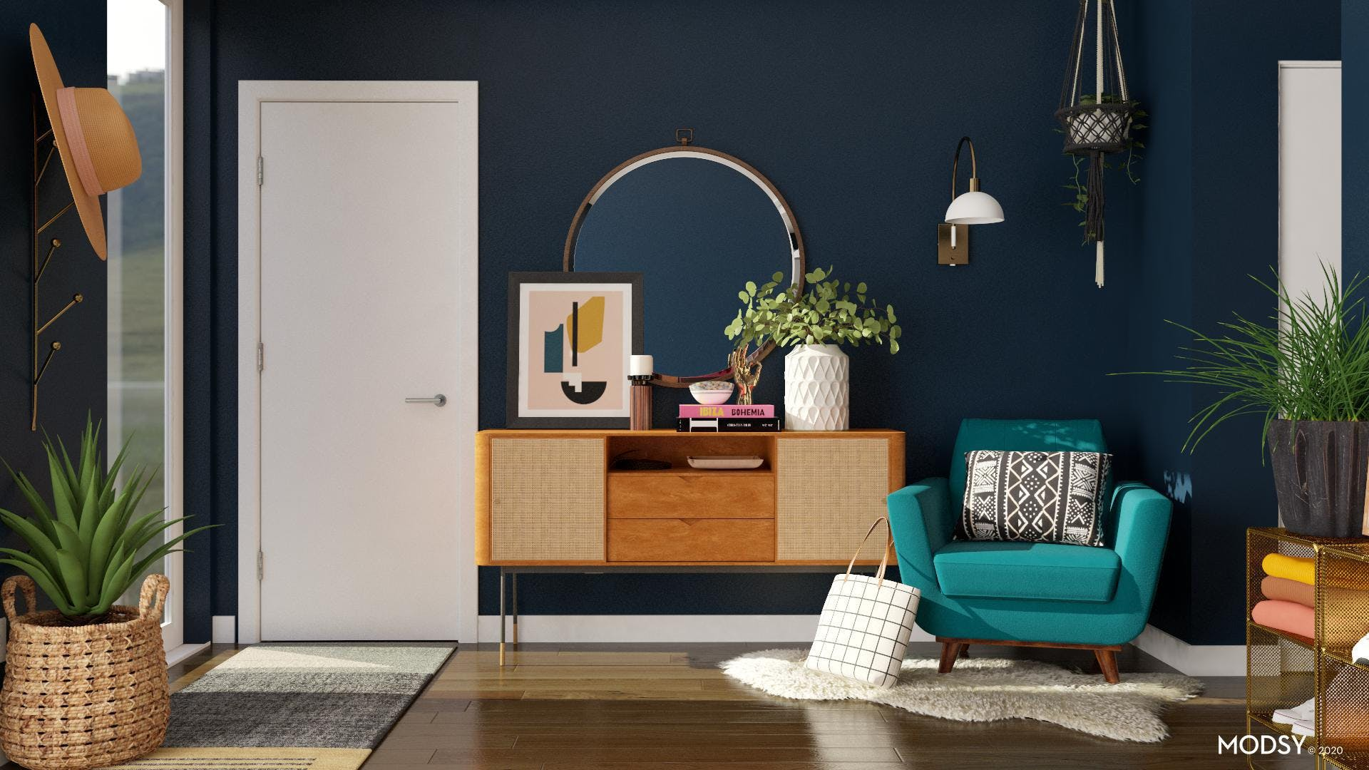 Bright And Bold Entryway