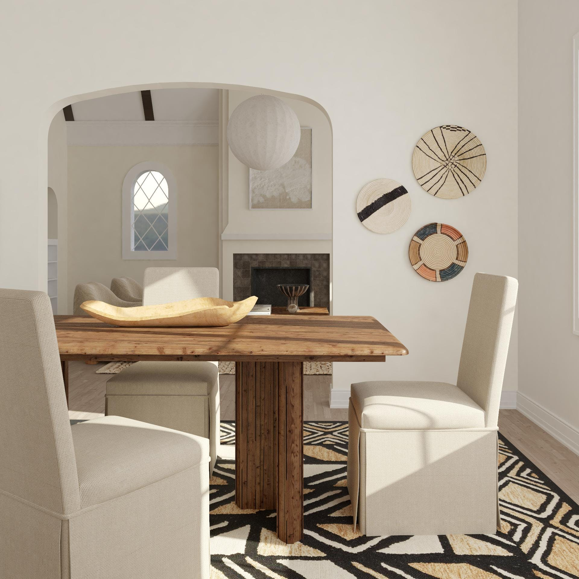 Earthy Modern Dining Room Style