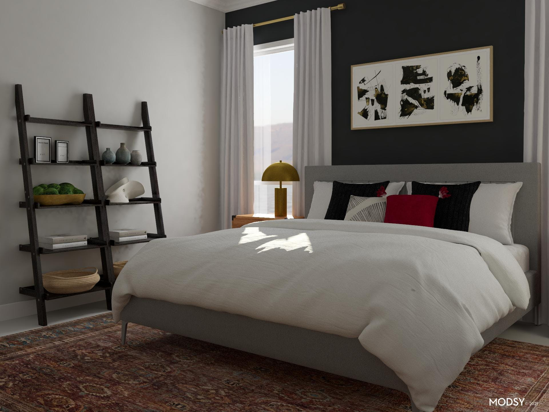 Black, White And Red: Bedroom Suite
