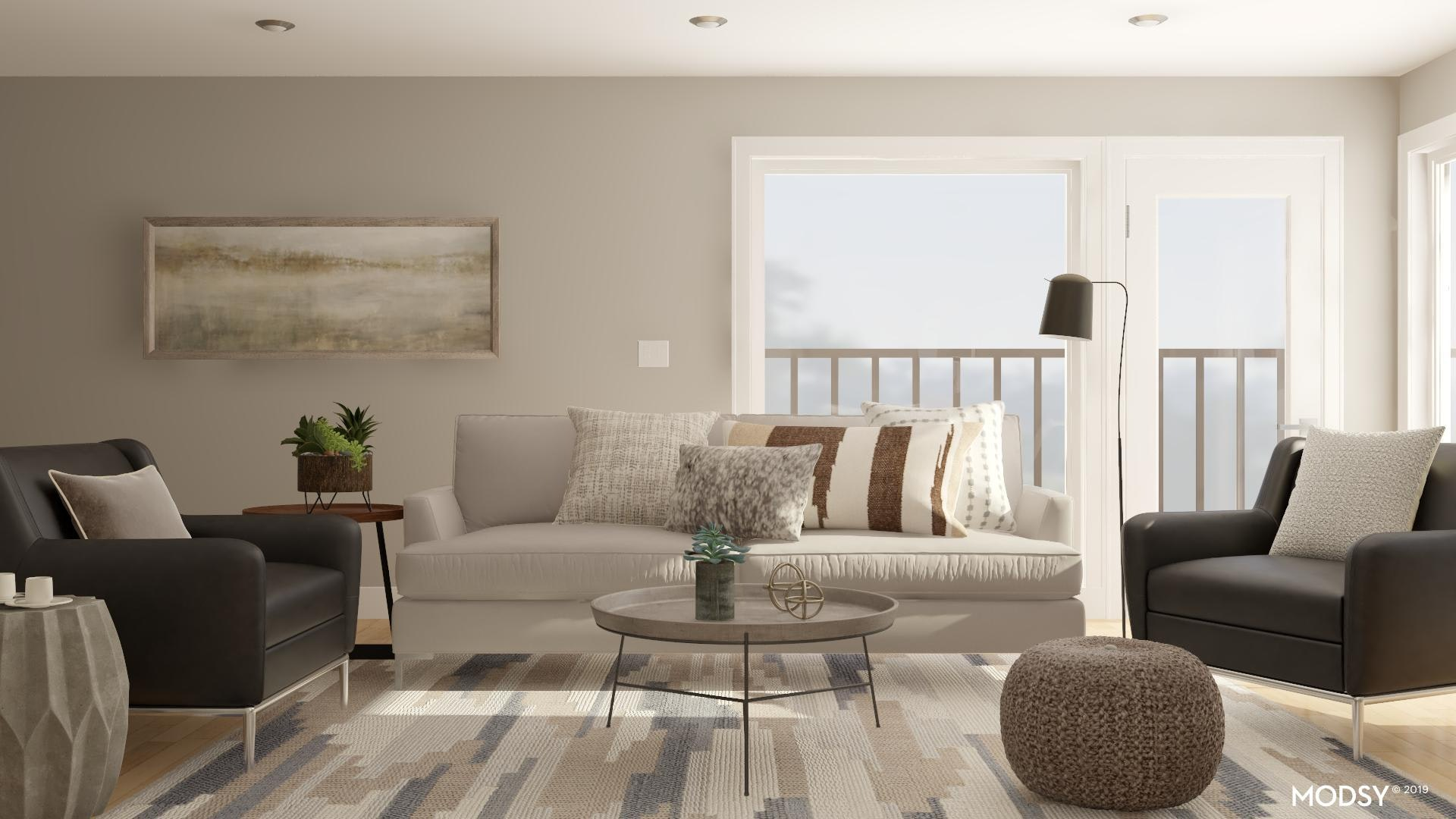 Neutral Tones In A Kid Friendly Industrial Living Room