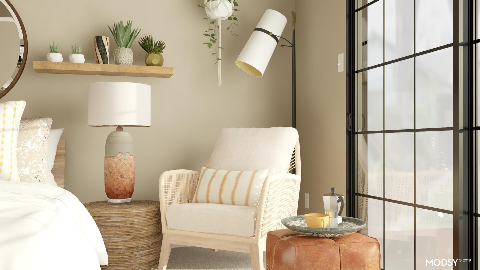 Morning Coffee Space In Earth Tones