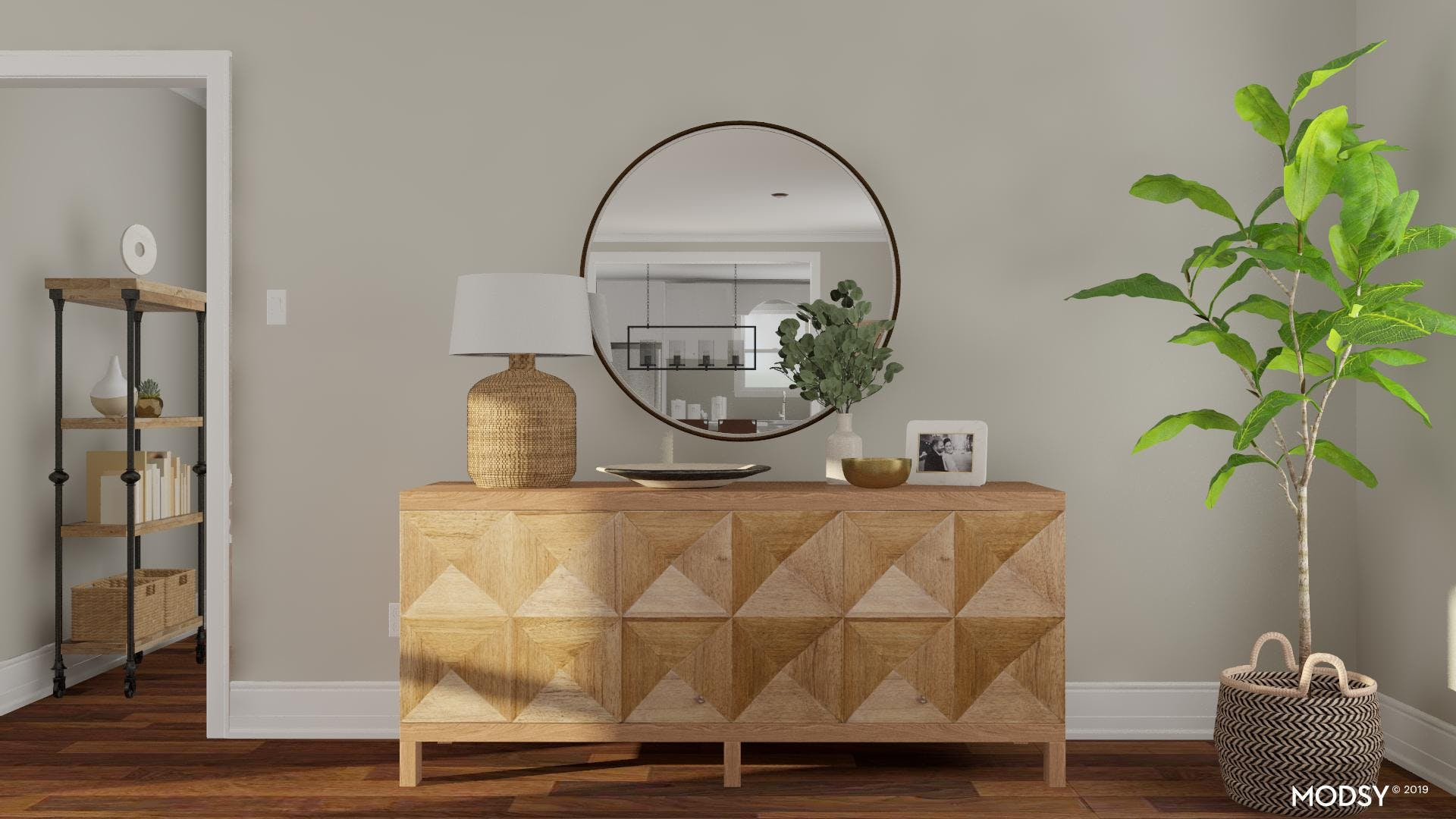 Quirky Rustic Console Styling