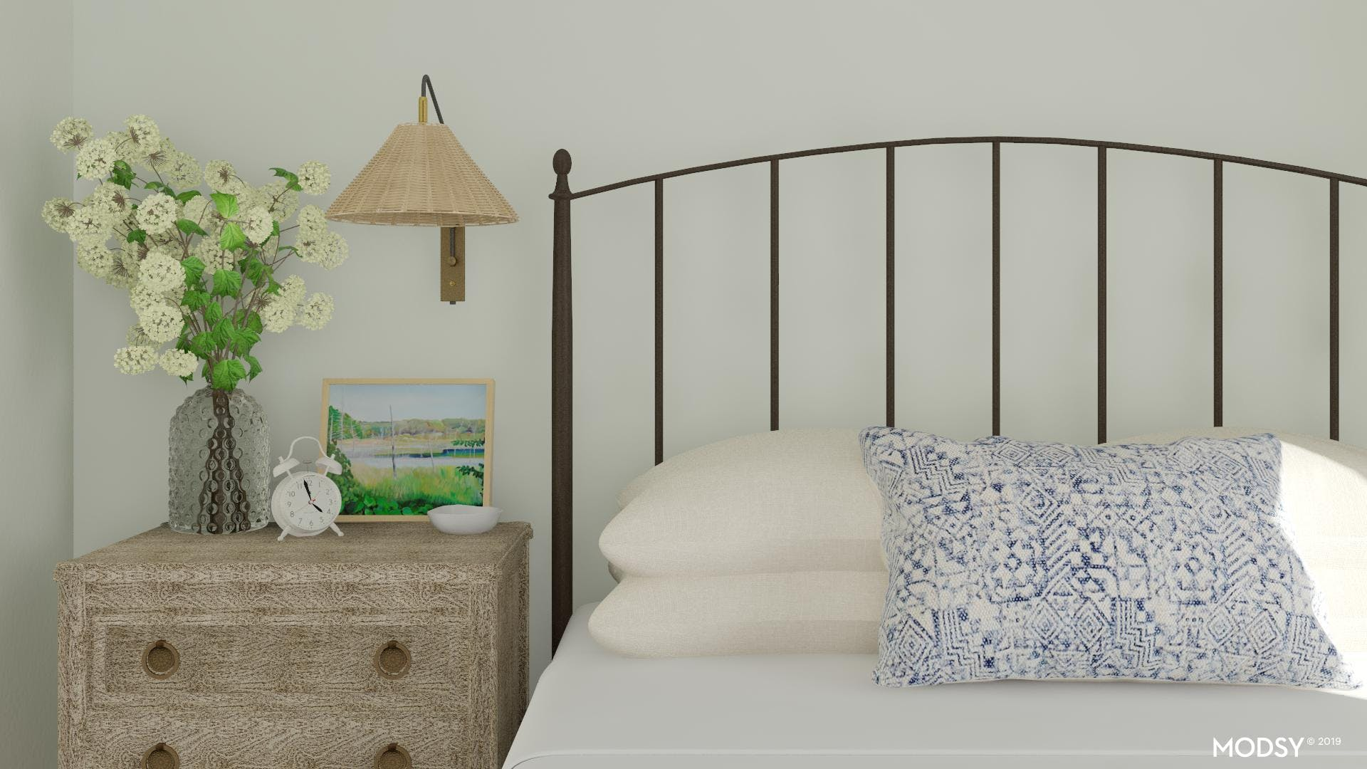 Classically Coastal Bedroom Details