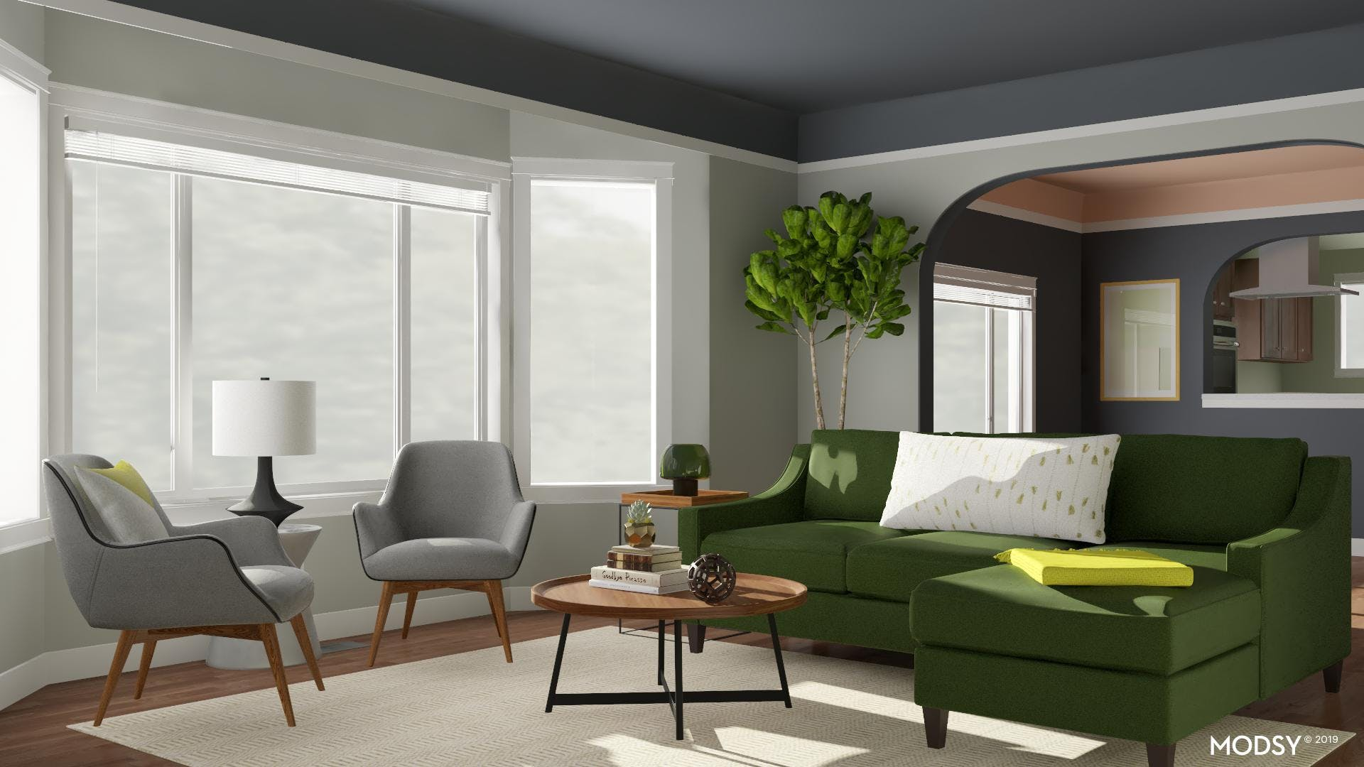Comfortable And Lively In Green