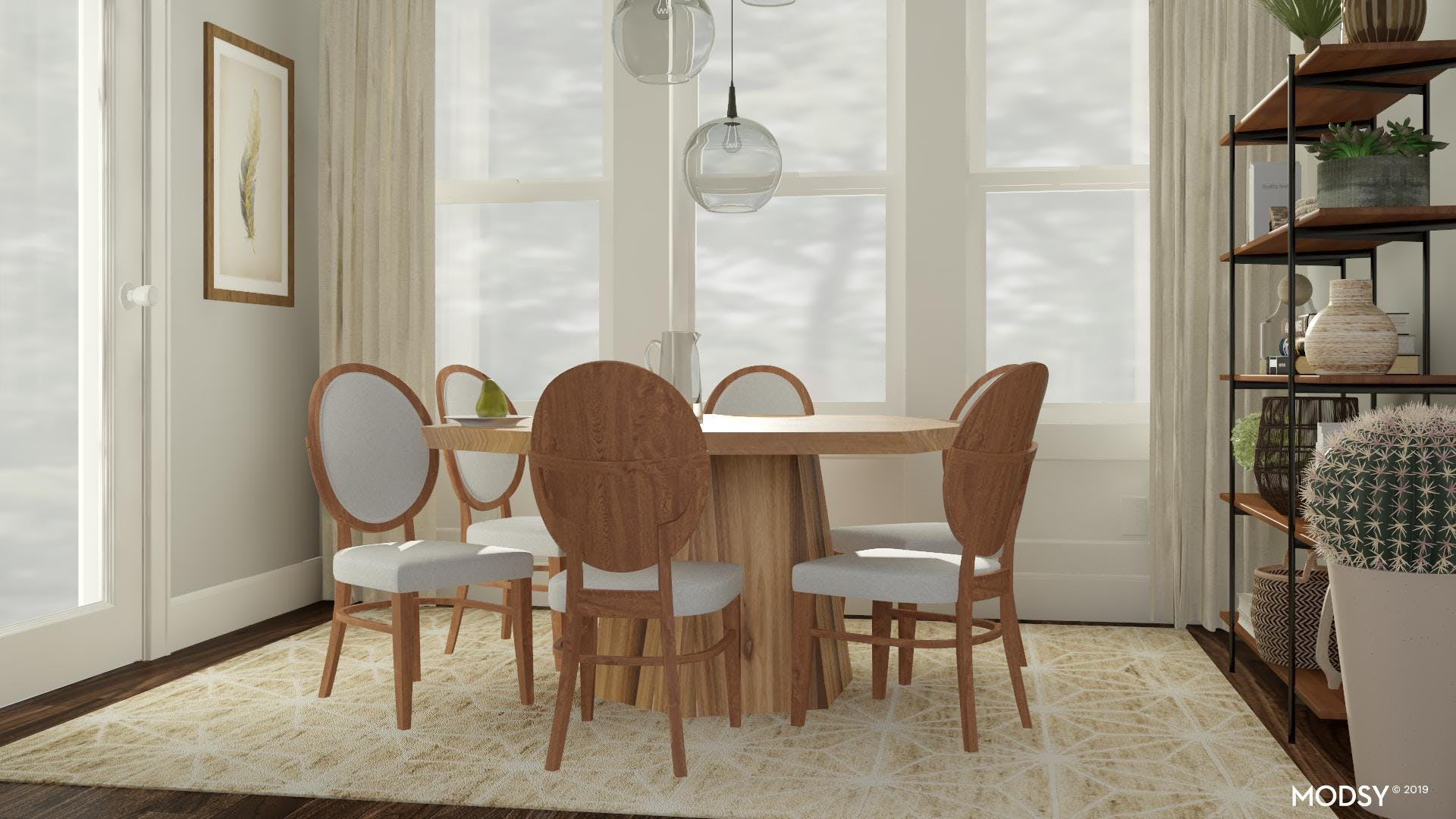 Mid-Century Modern Dining Room Styled With Neutrals
