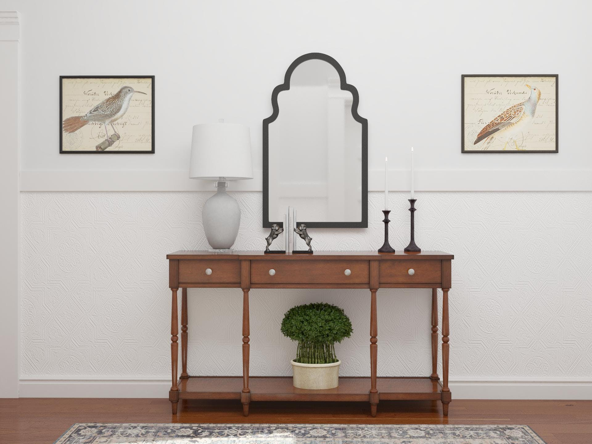 Traditional Entryway with Elegant Minimal Styling