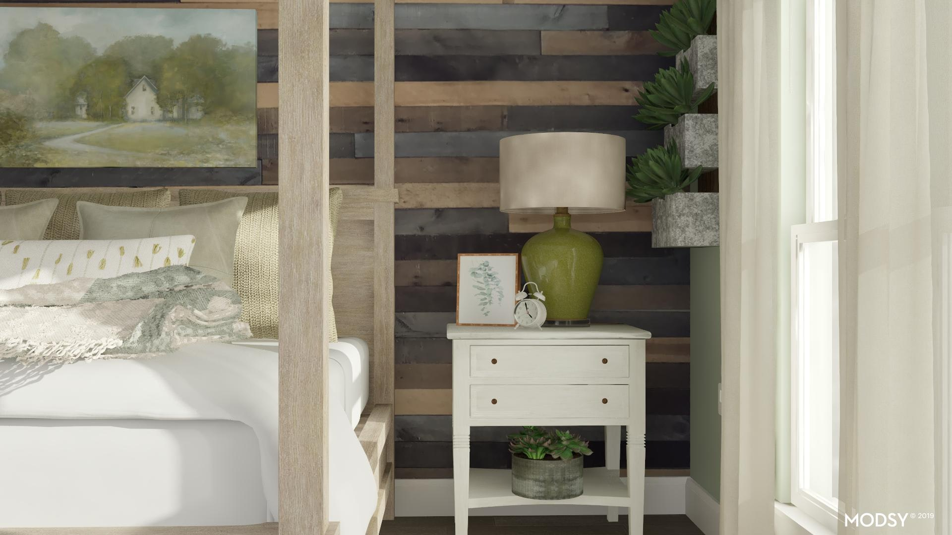 Simple Nightstand Styling Rustic Style Bedroom Design Ideas