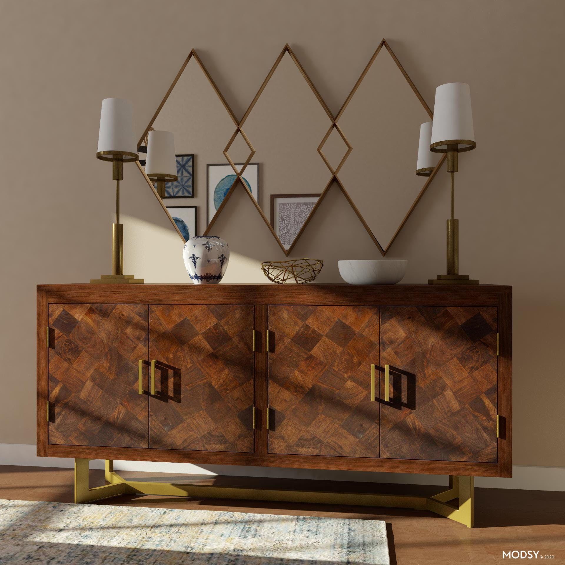 Brass Details: Rustic Dining