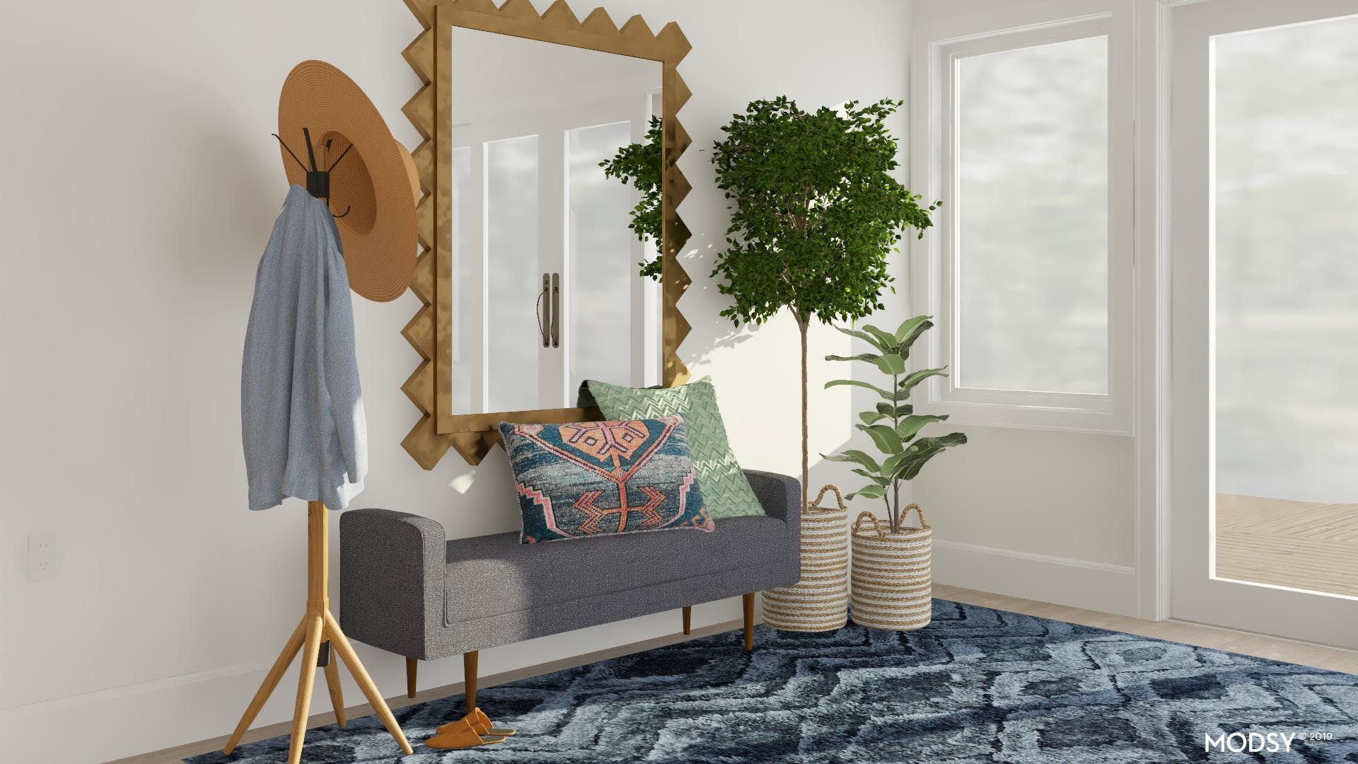 A Bold Mirror For A Mid-Century Entry