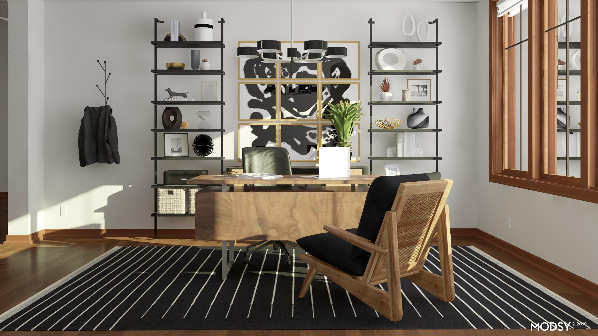 Bold Office In Black And White