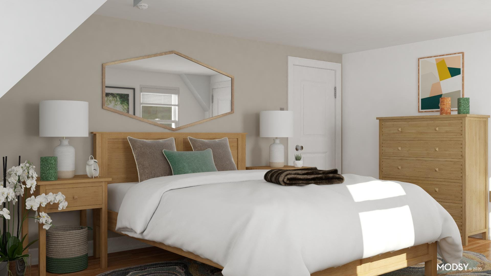 Contemporary Bedroom: Bamboo