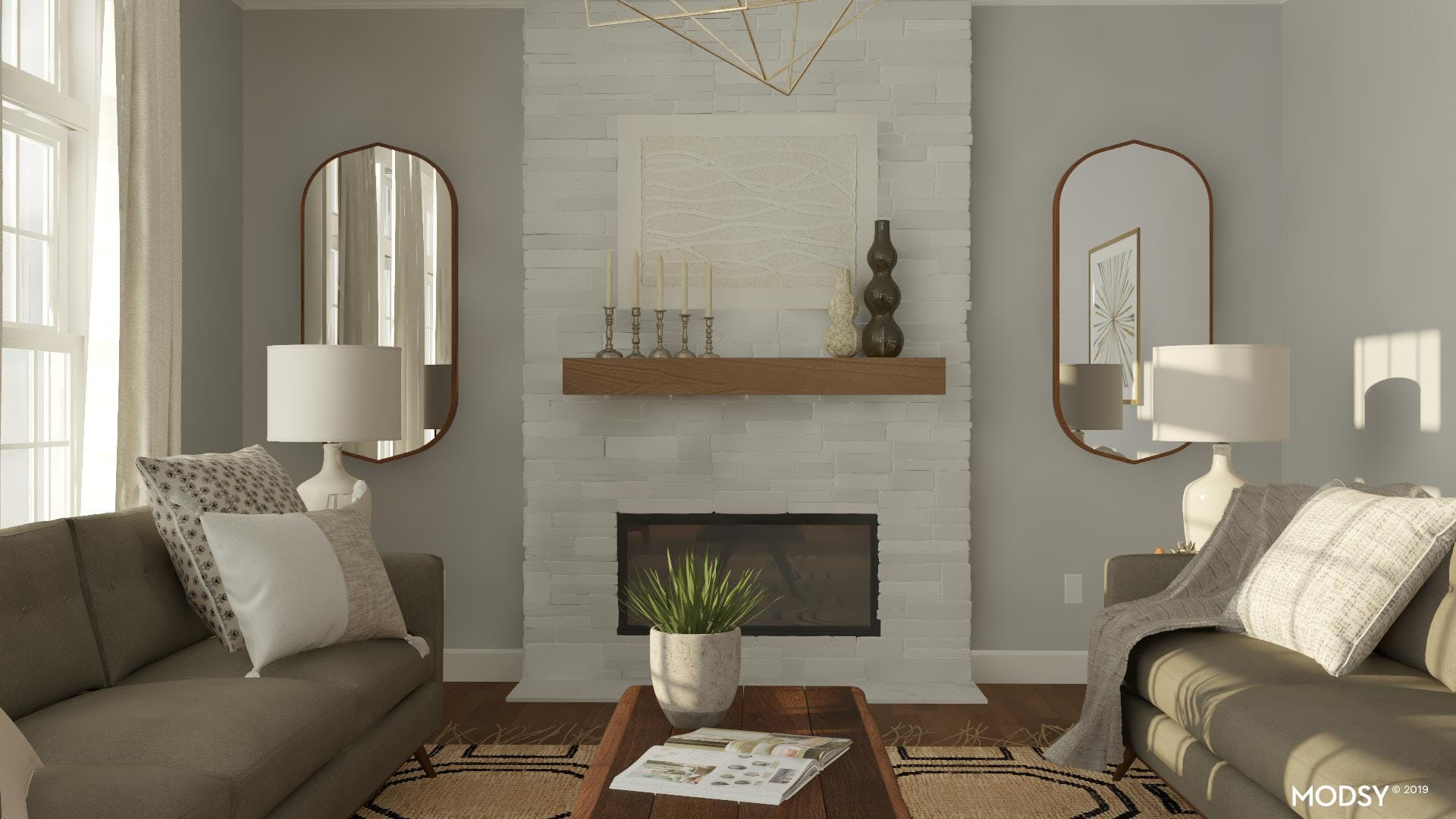 Filling Empty Wall Space In A Mid-Century Modern Living Room
