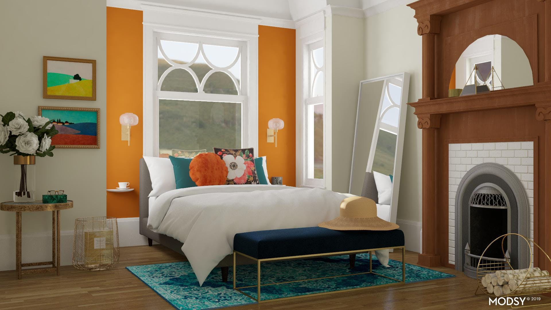 Colorful and Cozy Bedroom Style