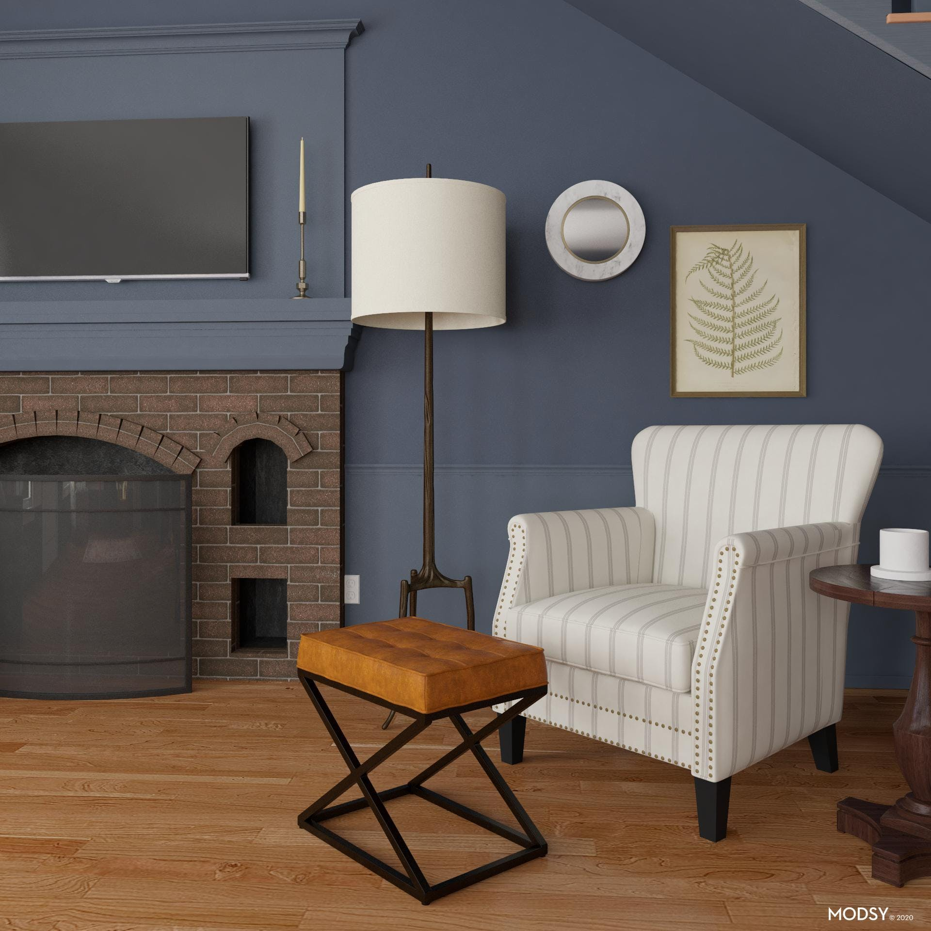 Traditional Fireplace Seating