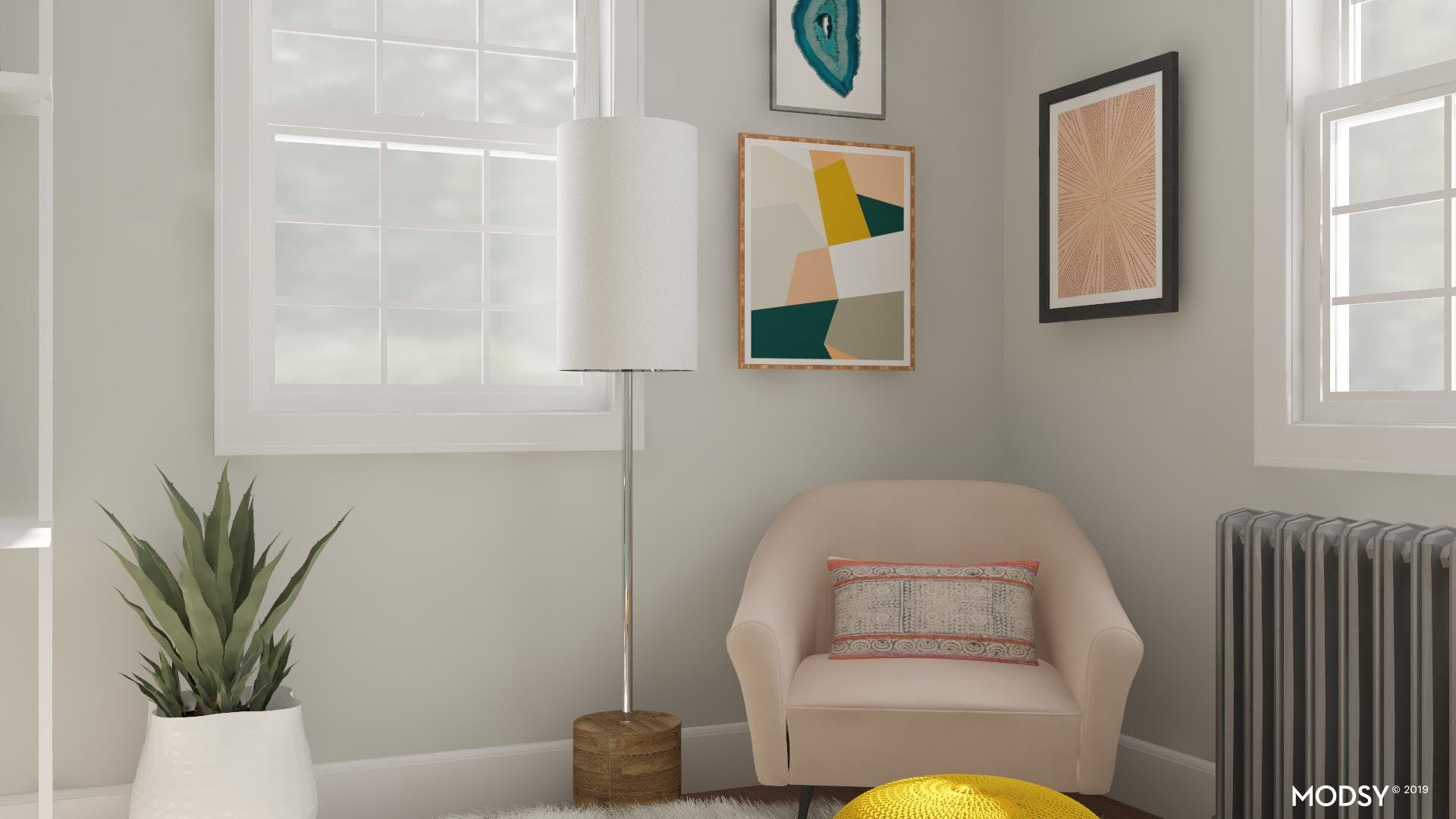 Balancing Jewel Tones In A Small Office Space