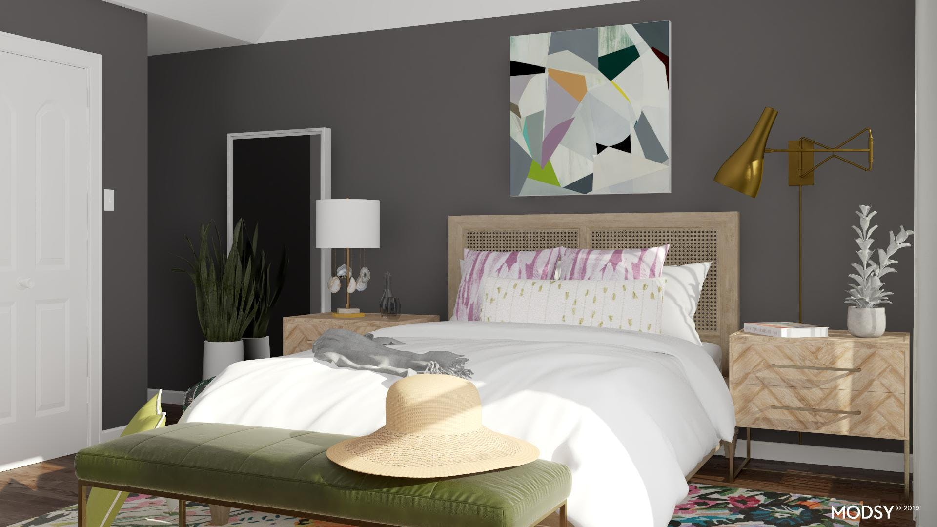 Create Contrast with Dark Walls