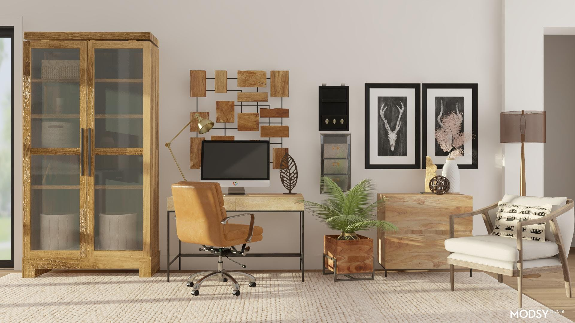 Functional And Neutral Rustic Office