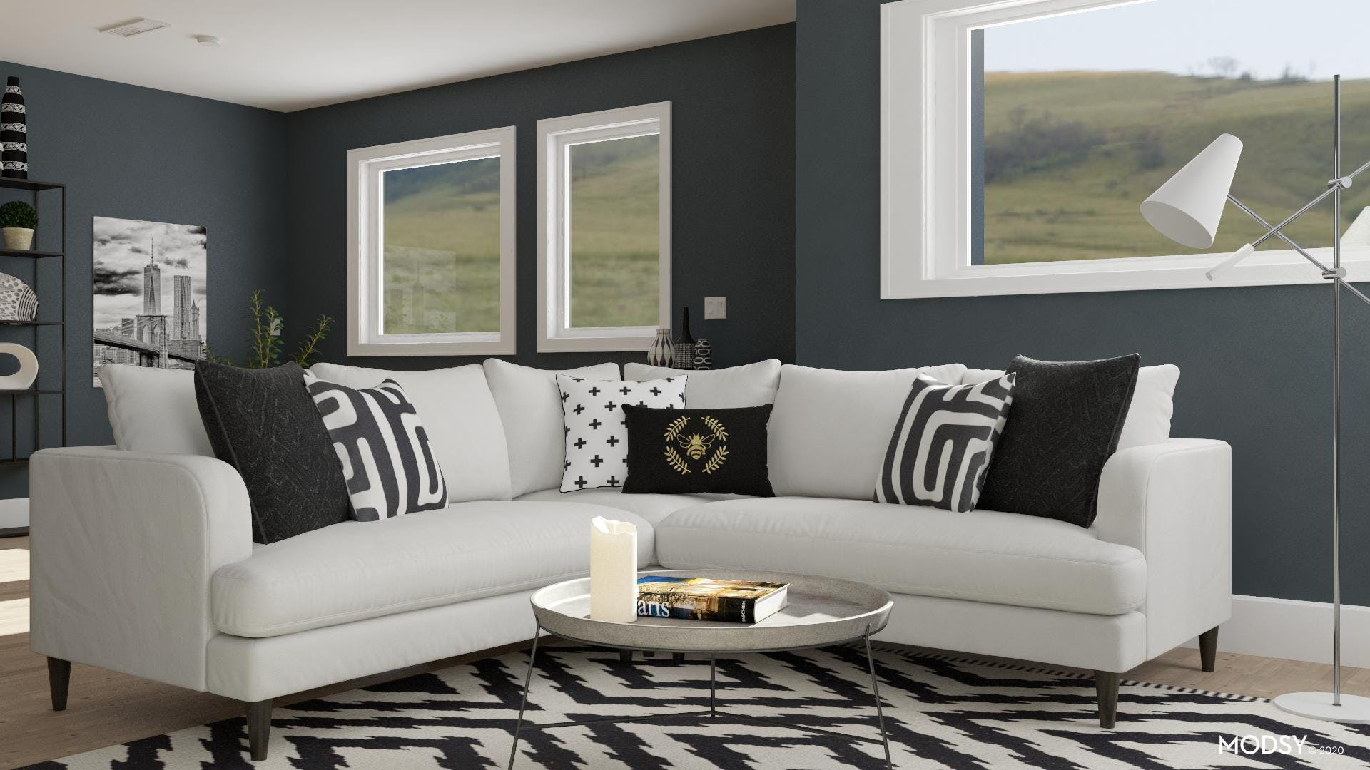 Speaking The Same Language: A Black And White Living Room