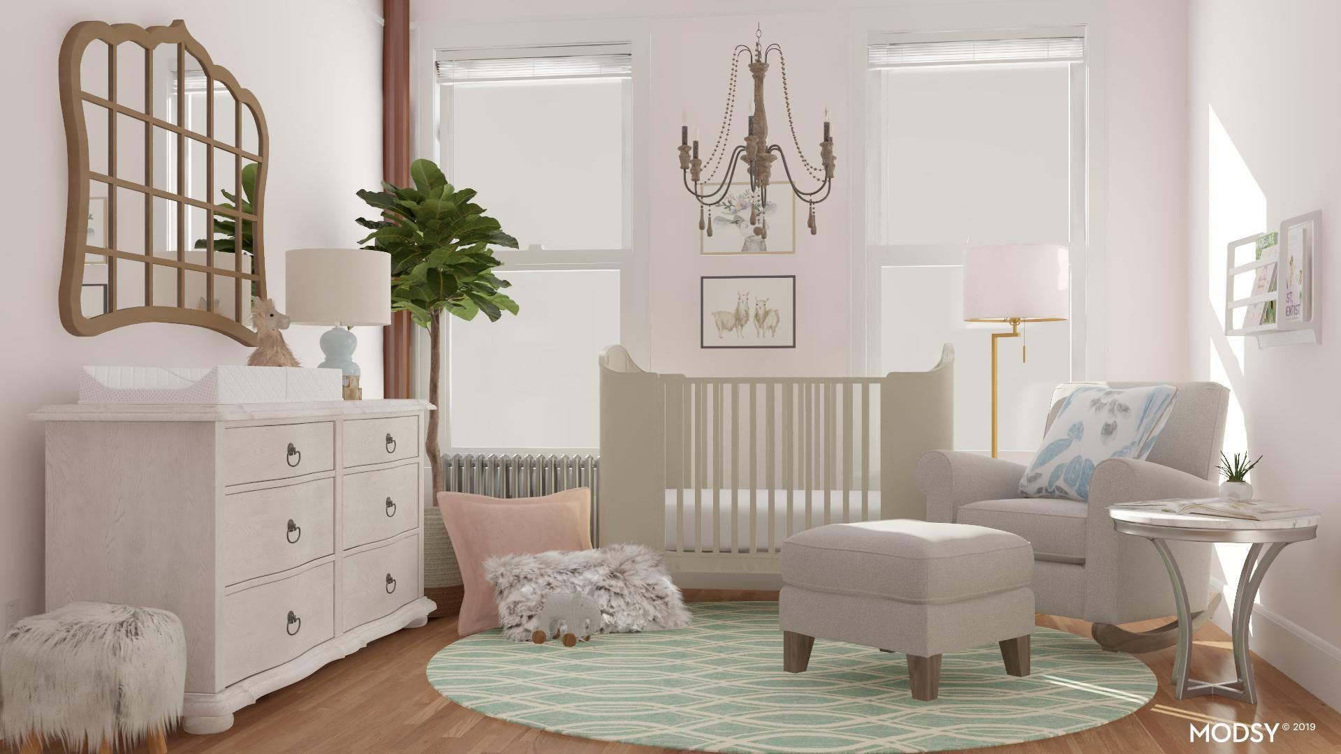 A Classic Style Nursery with Pastel Colors