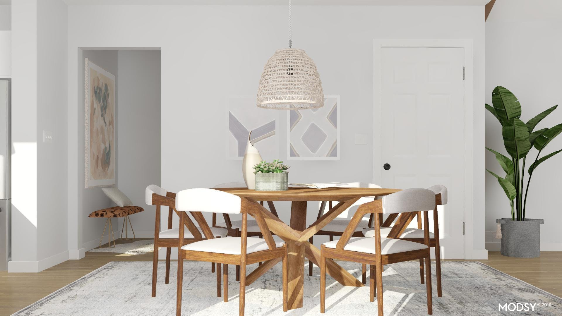 Neutral Colors In The Dining Room