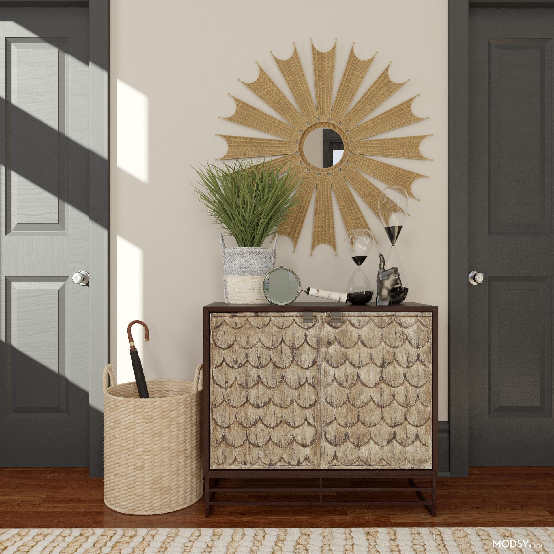 Storage Solutions For An Eclectic Entryway
