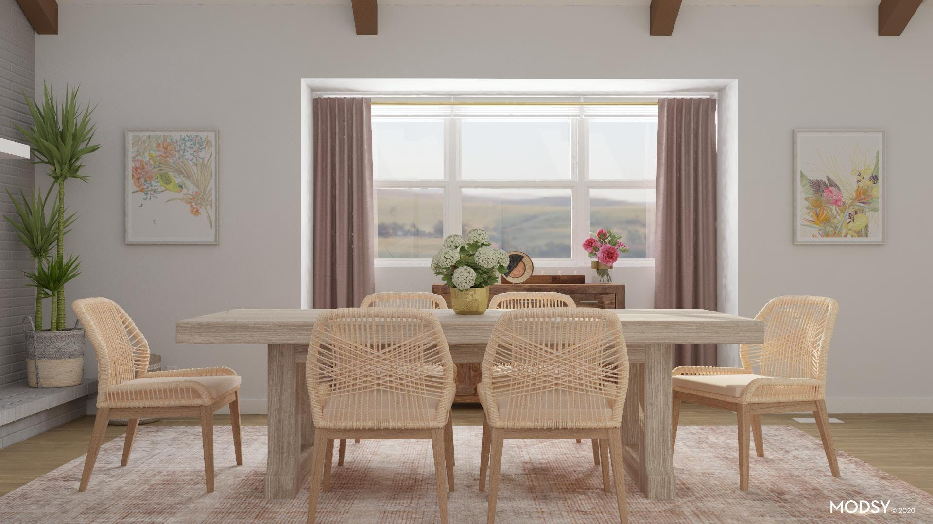 Eclectic Dining Room: Pastel Passion