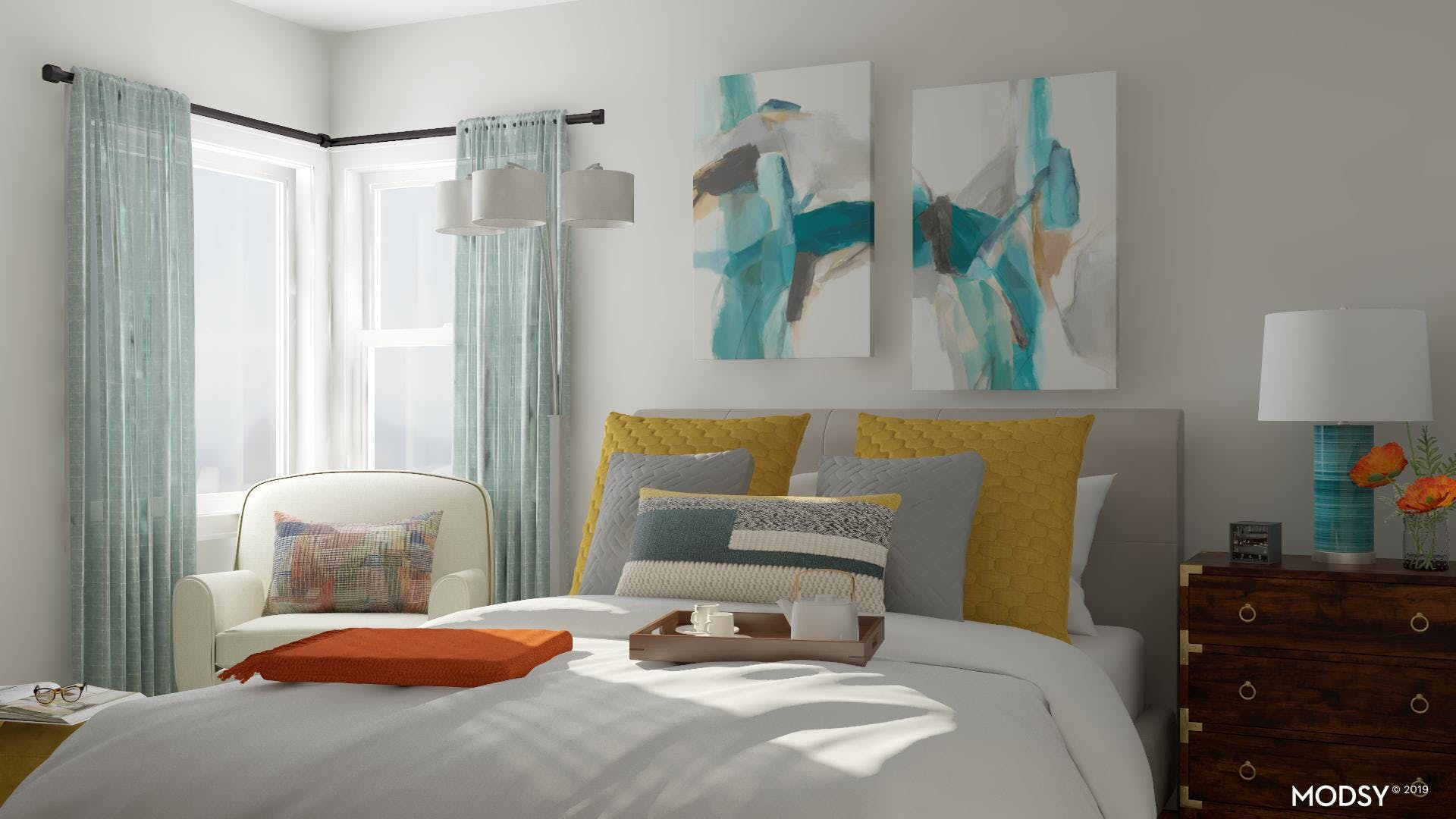 Add Some Color to your Guest Bedroom!