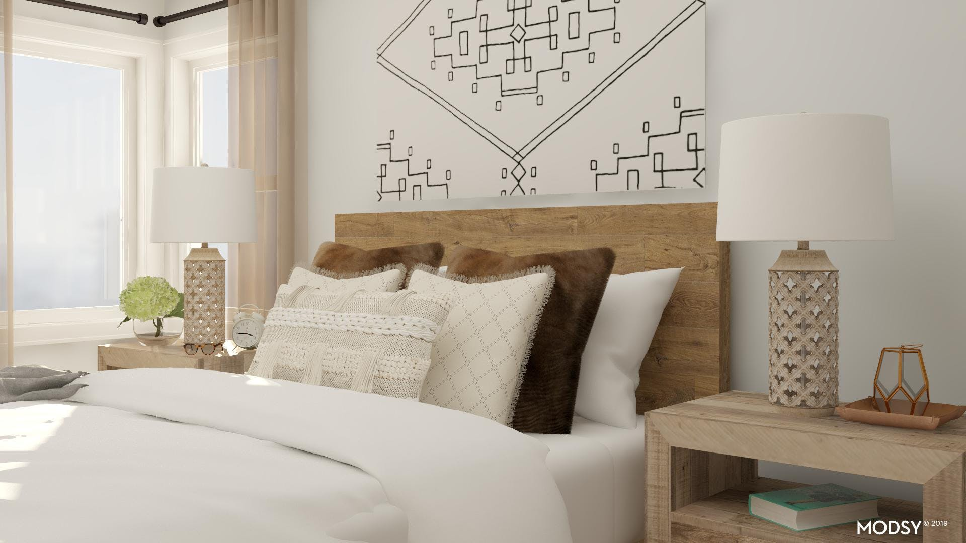 Natural And Effortless Farmhouse Bedroom