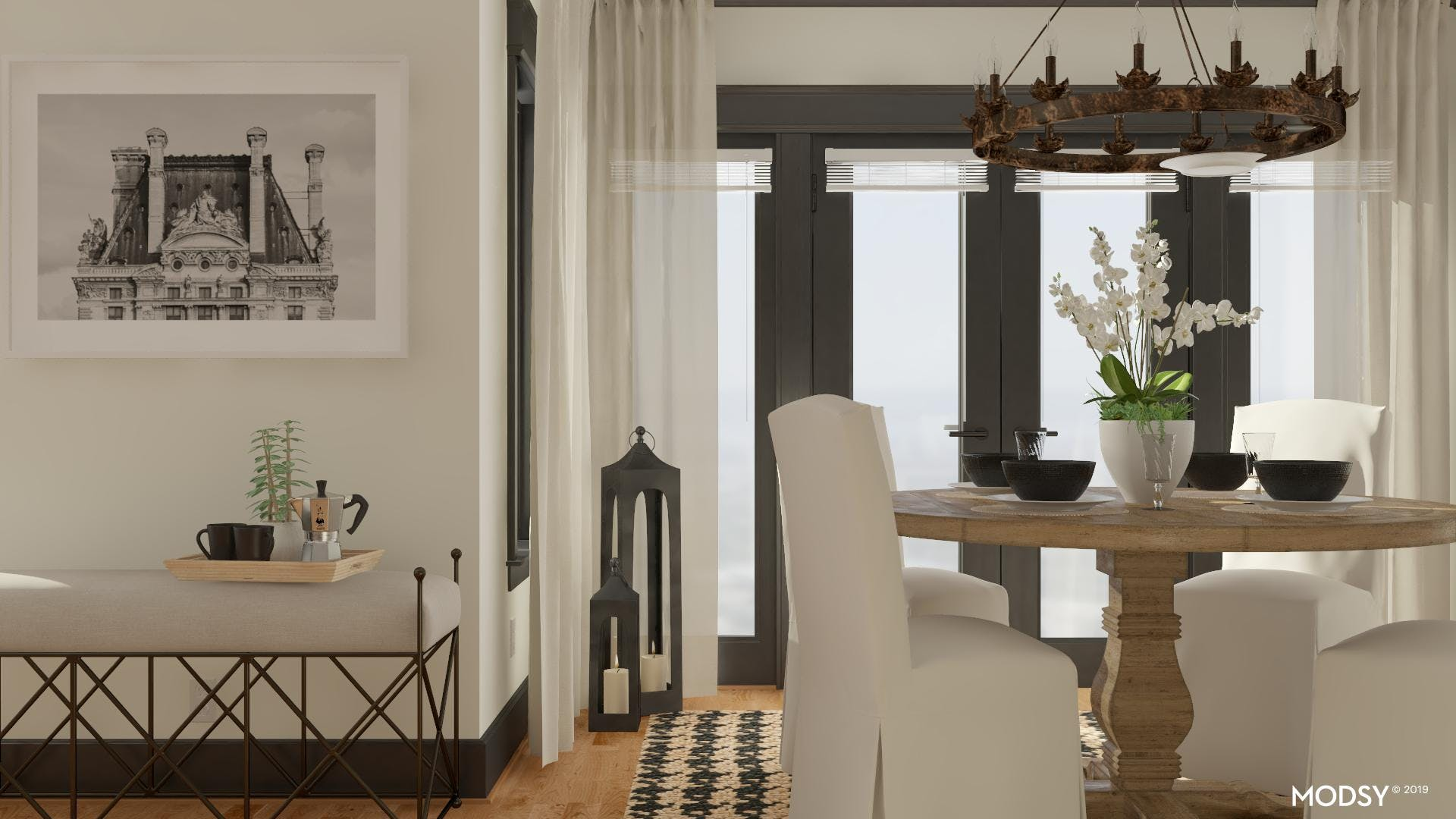 Black And White Meets Traditional Warmth