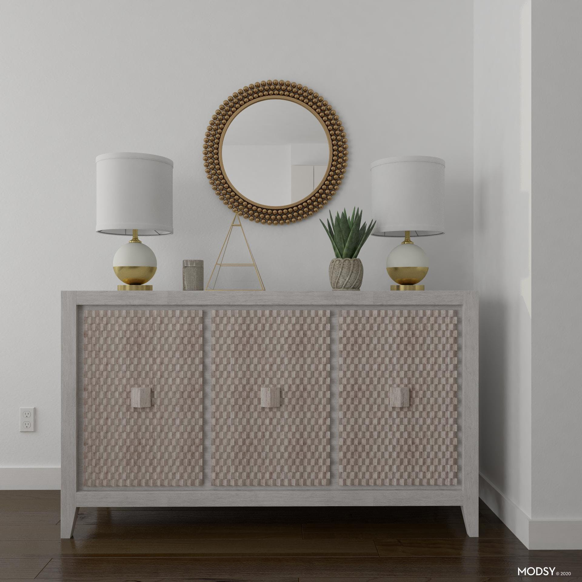 Textured Transitional Console