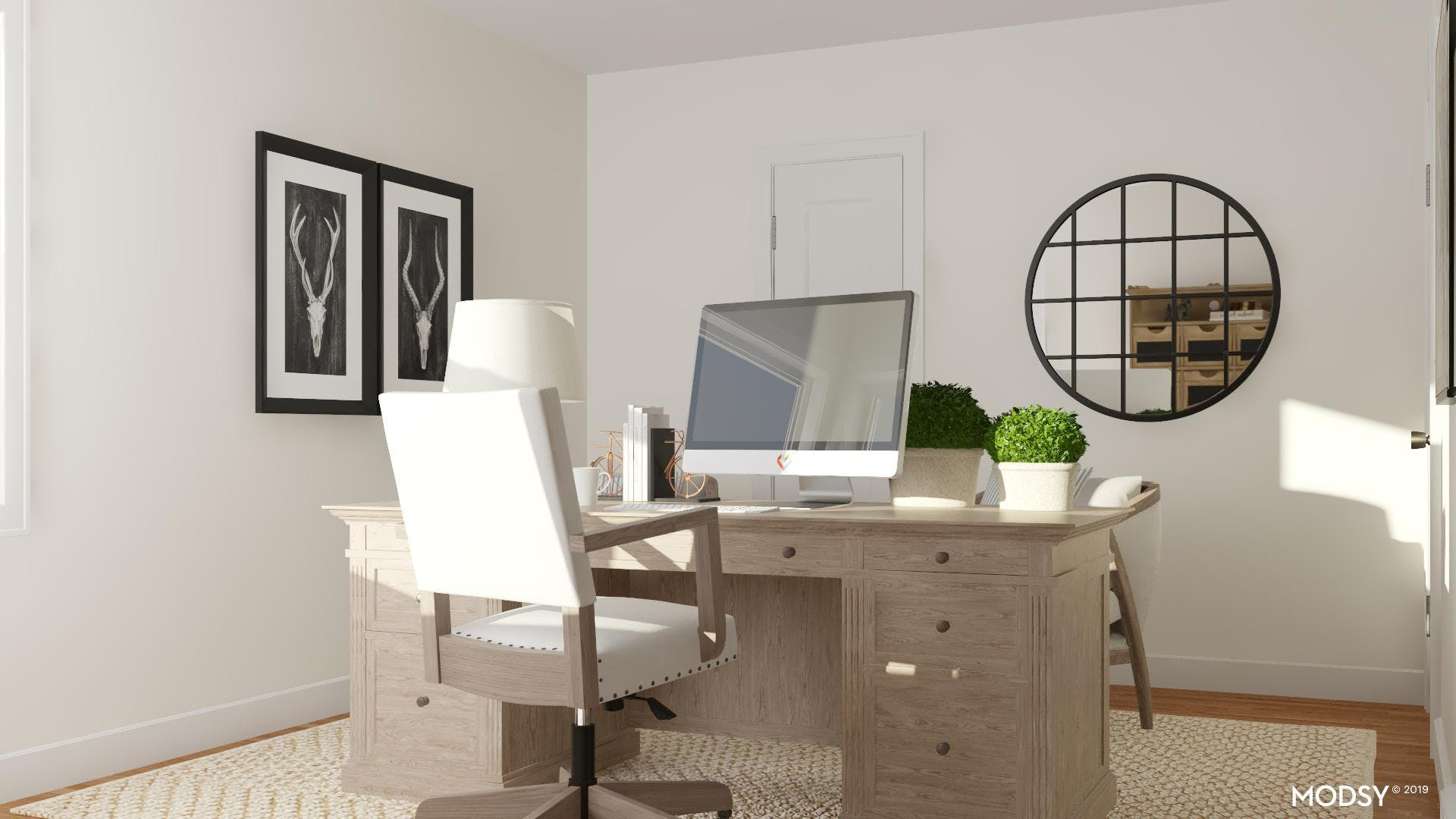 Rustic Neutrals: Home Office