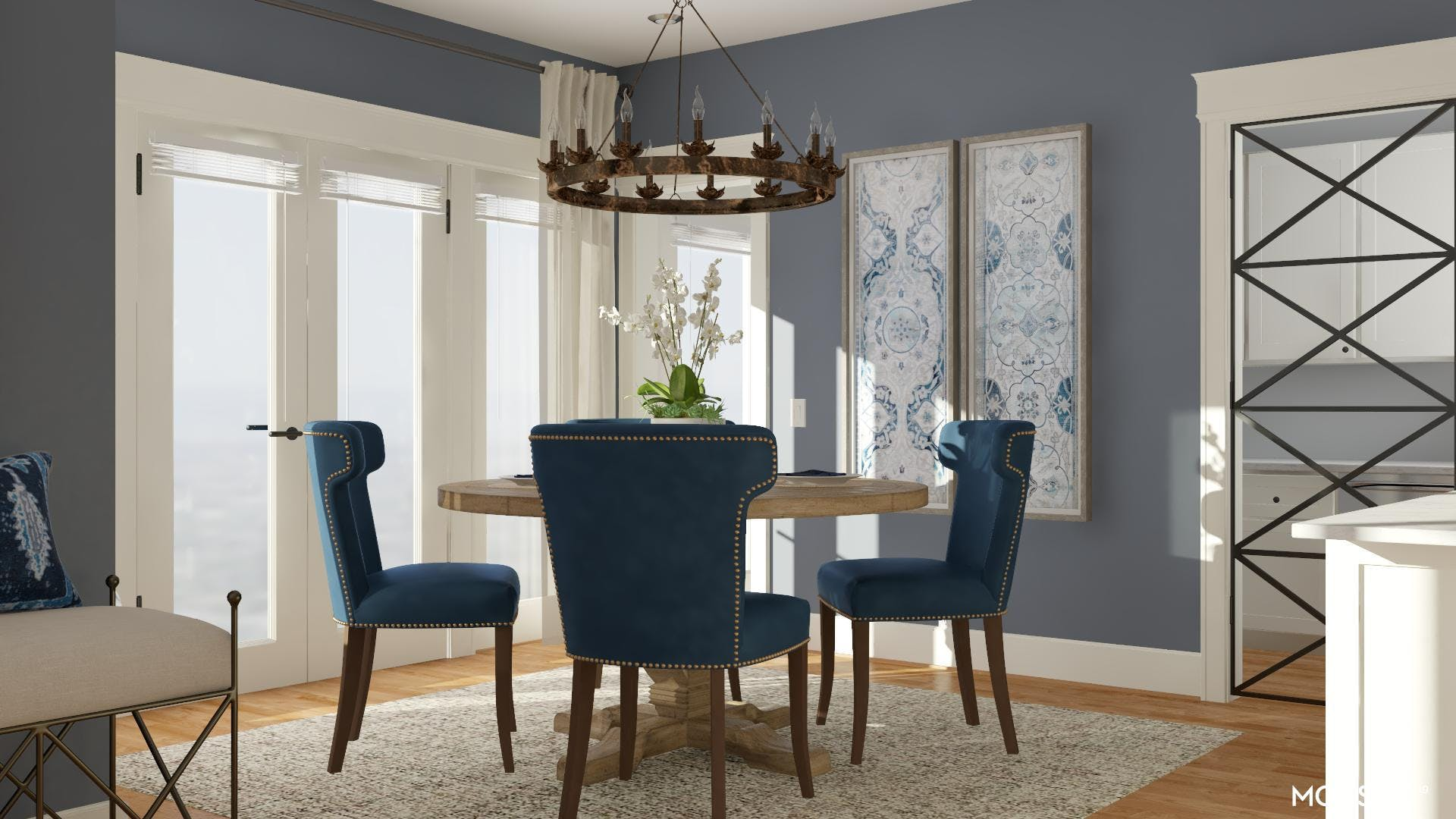 Timeless Dining in Blue