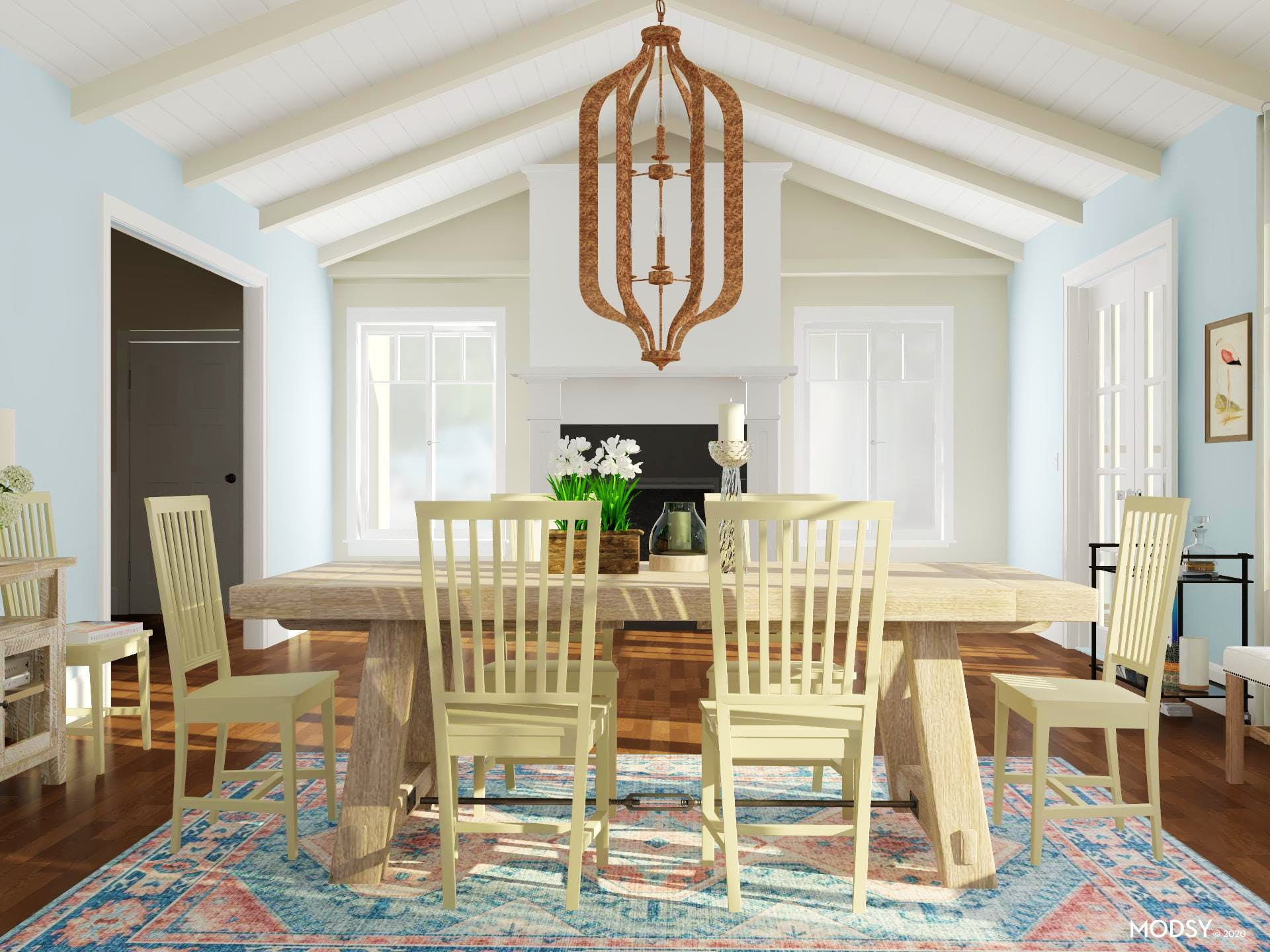Pastel Traditional Dining Design