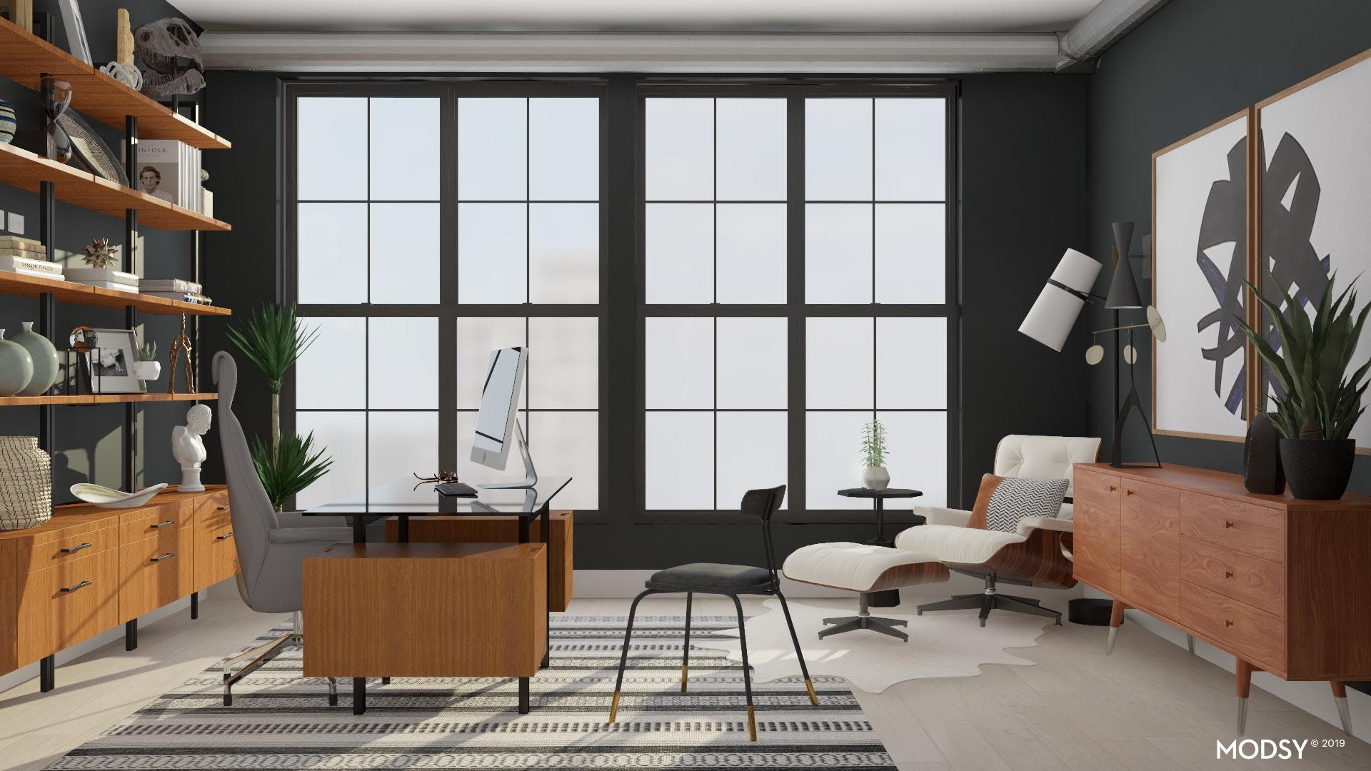 Black And White Modern Masculine Office