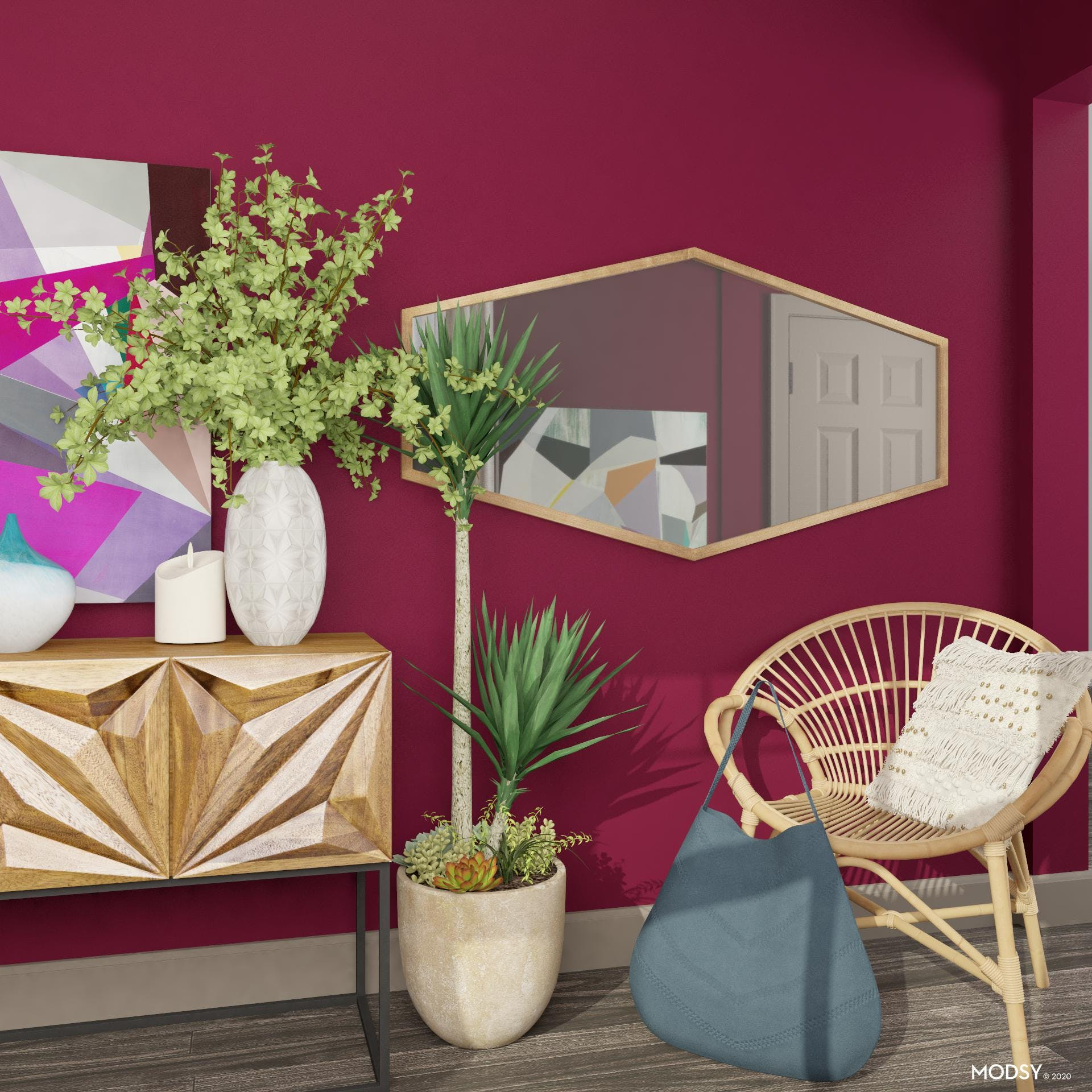 Entry Seating: Eclectic Style
