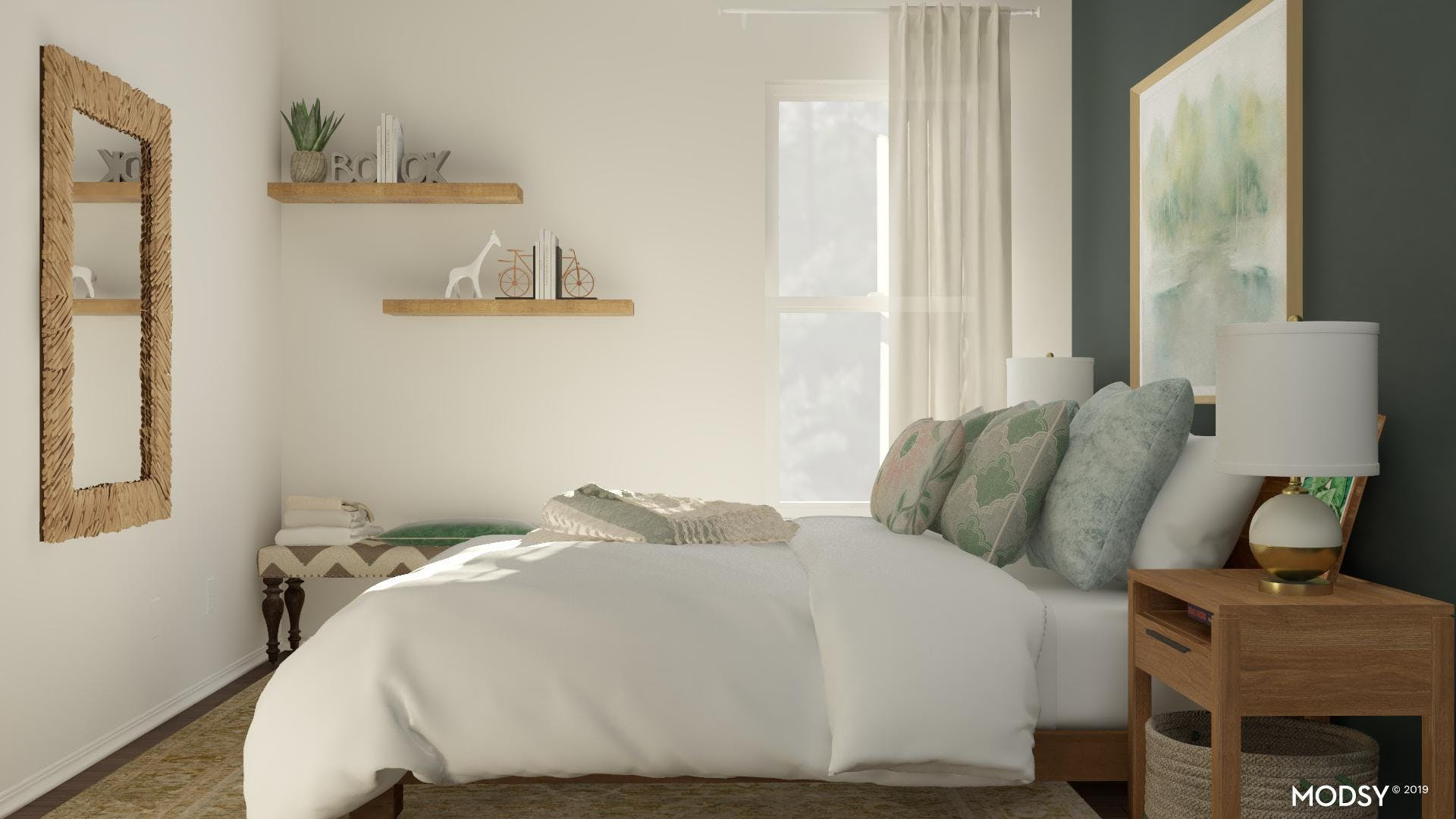 Small Bedroom: Dramatic Touches