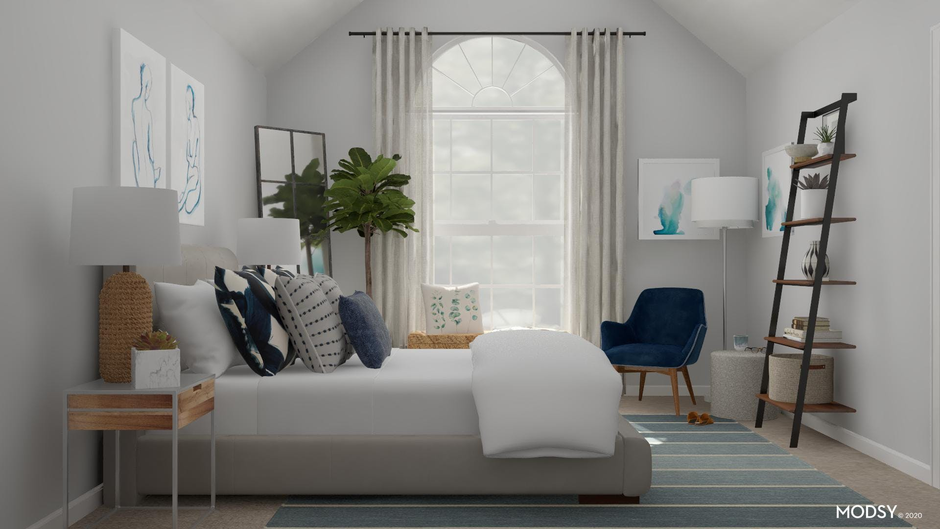Lofty Master Bedroom with Natural Light