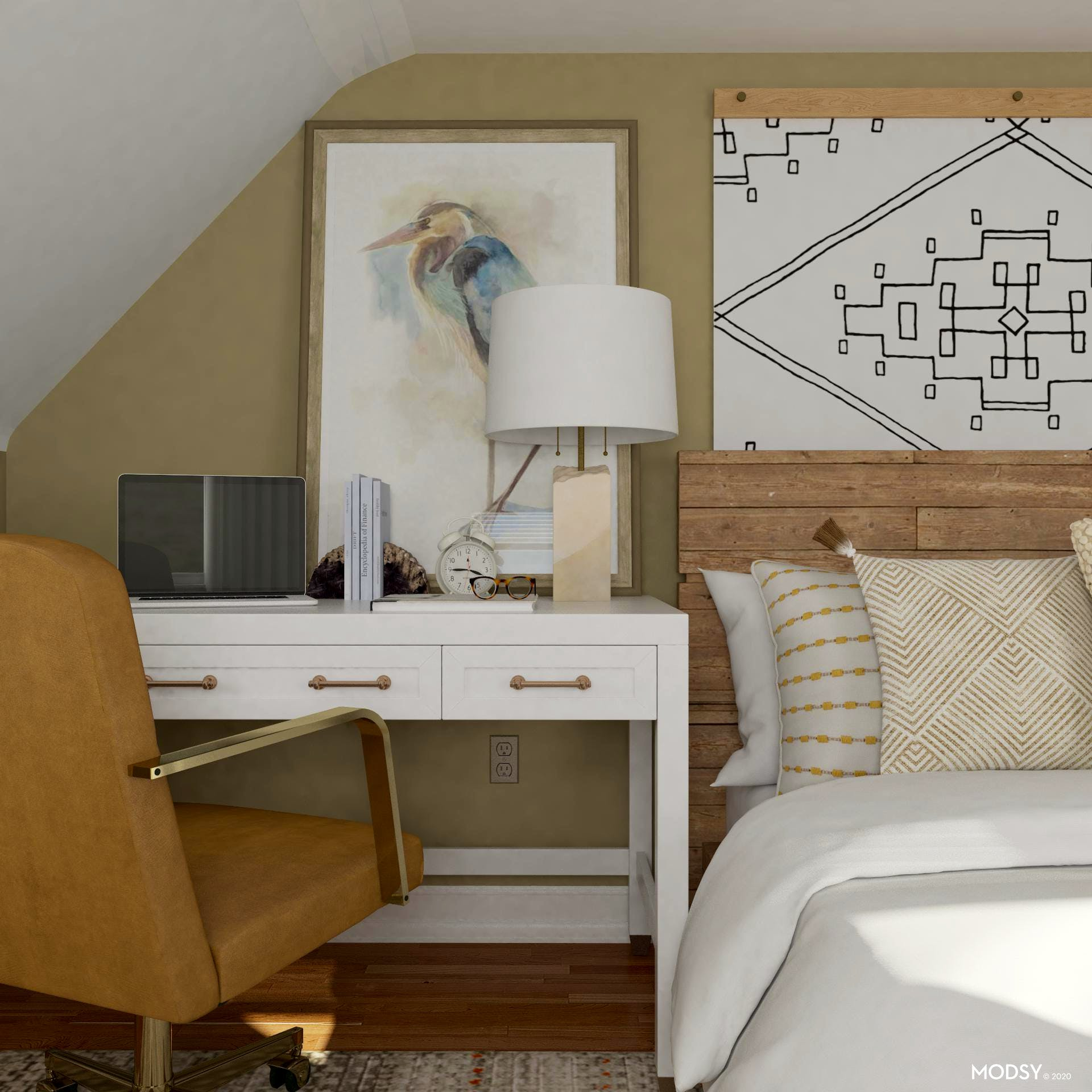 Tiny Space: Eclectic Bedroom