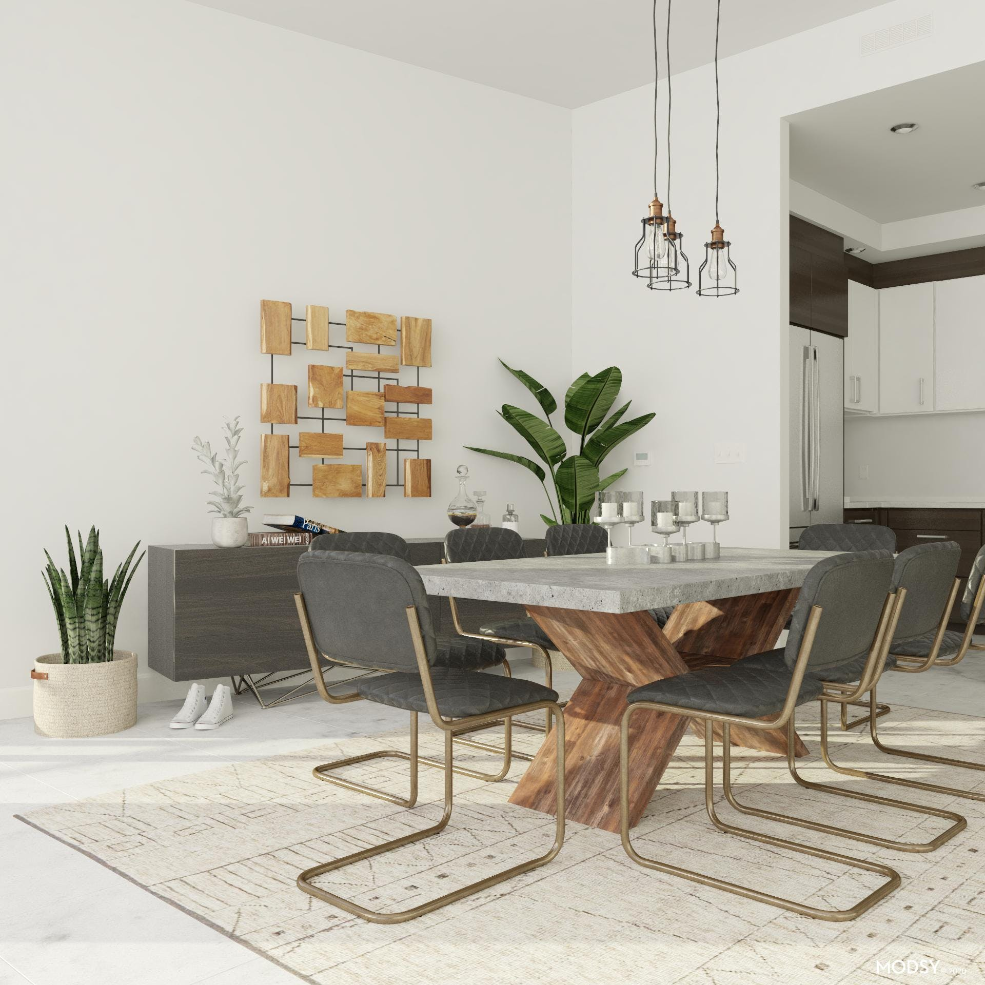 Sculptural Forms: Industrial Dining