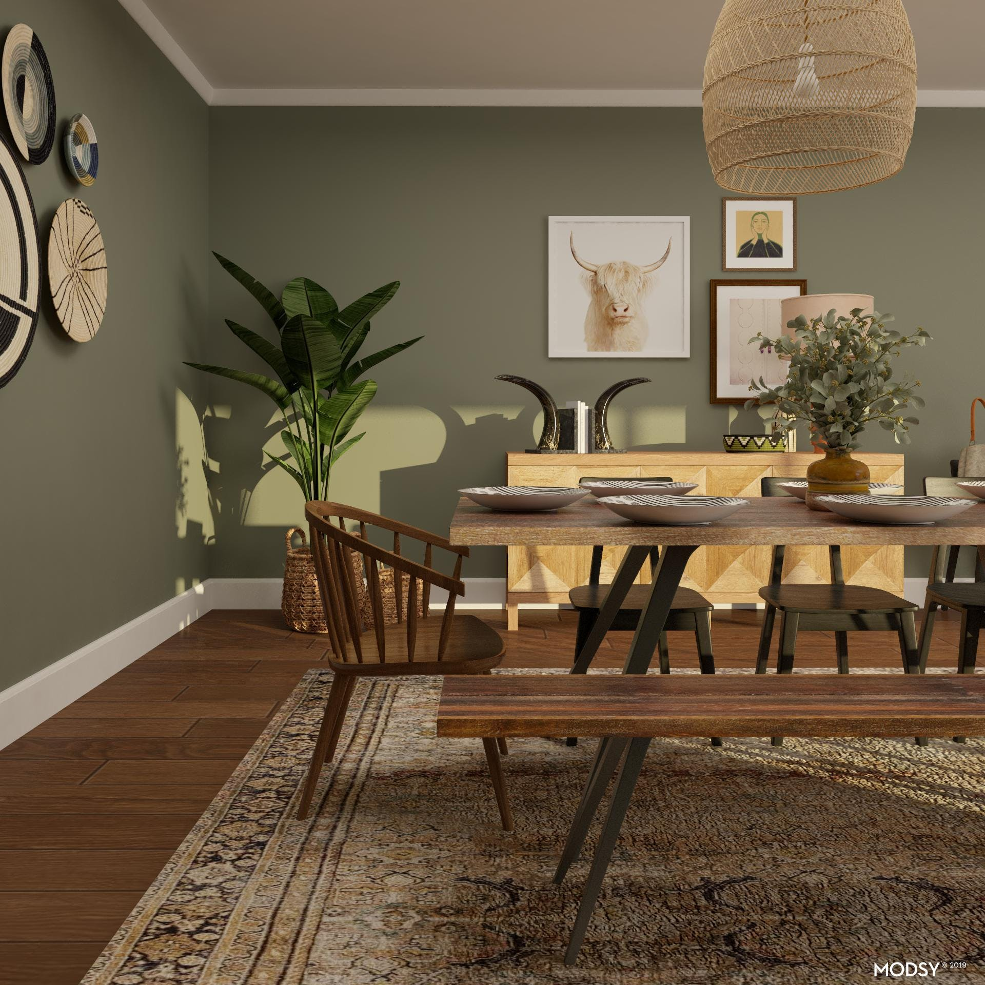 Elelectic Dining Room